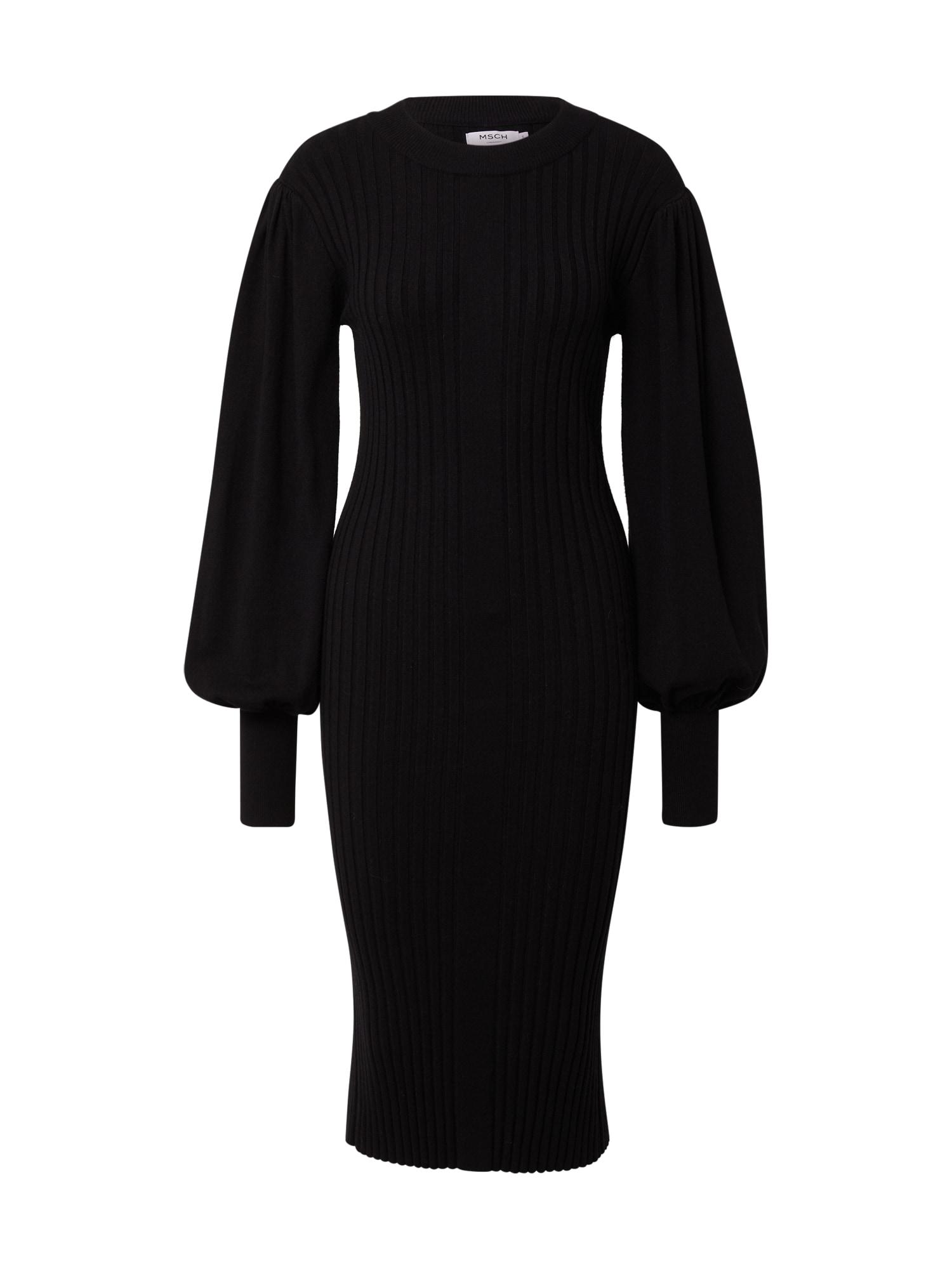 MOSS COPENHAGEN Úpletové šaty 'Rachelle'  černá