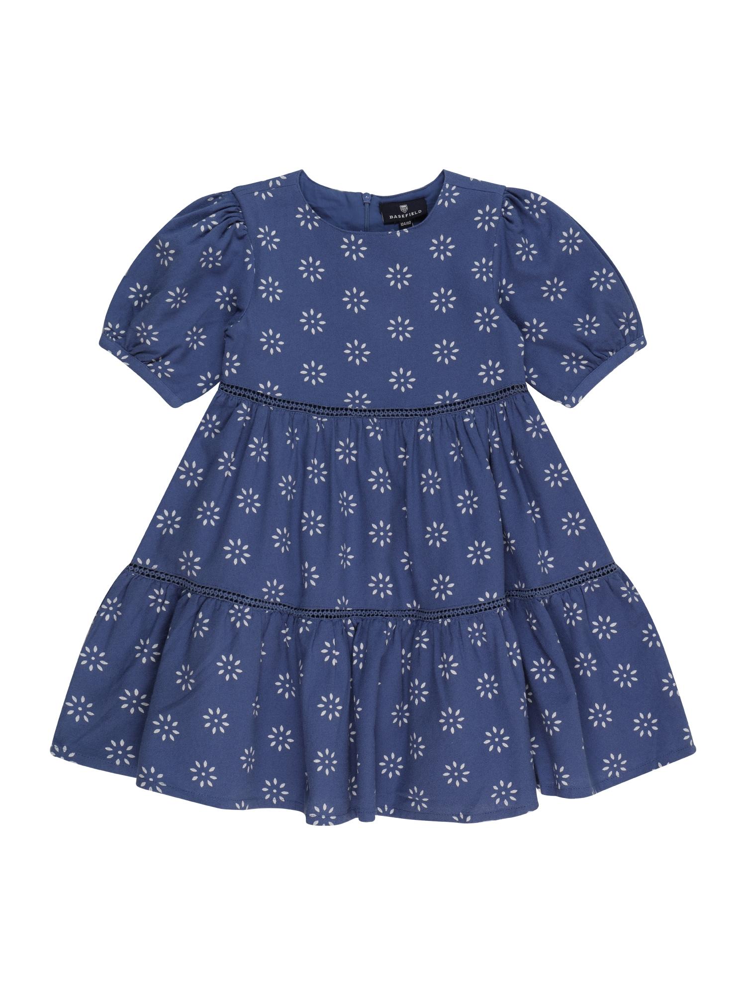 BASEFIELD Suknelė balta / tamsiai mėlyna