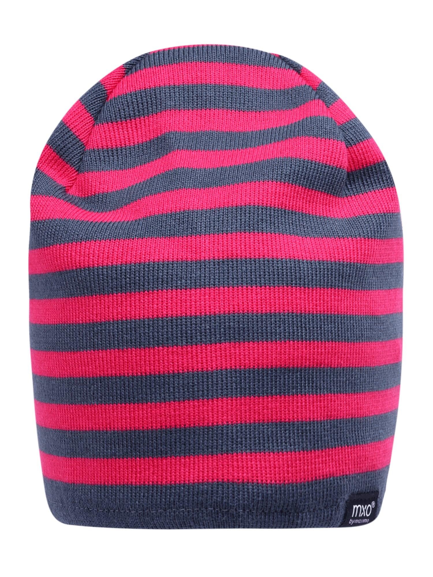 MAXIMO Megzta kepurė tamsiai (džinso) mėlyna / rožinė