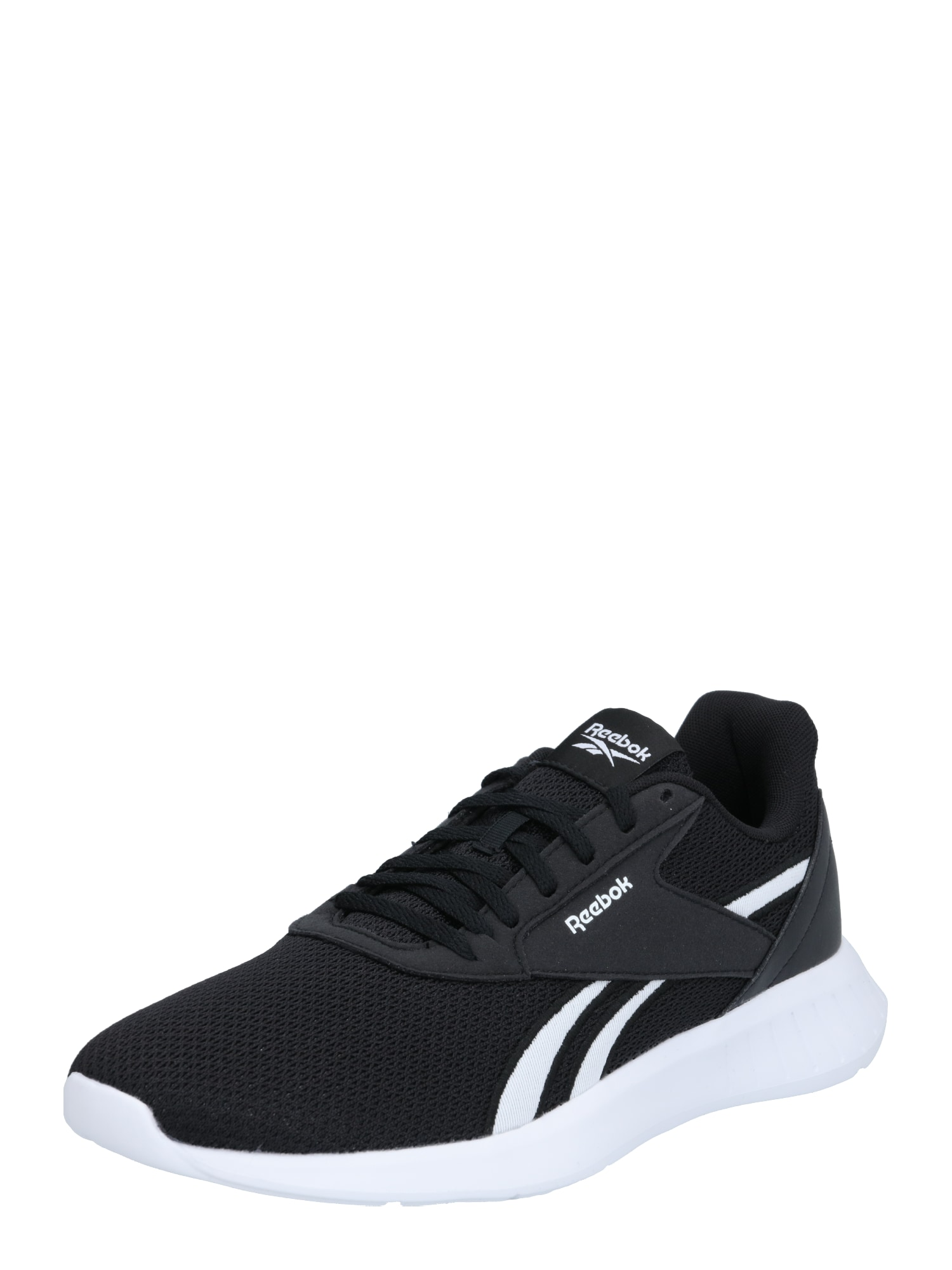 REEBOK Bėgimo batai juoda / balta