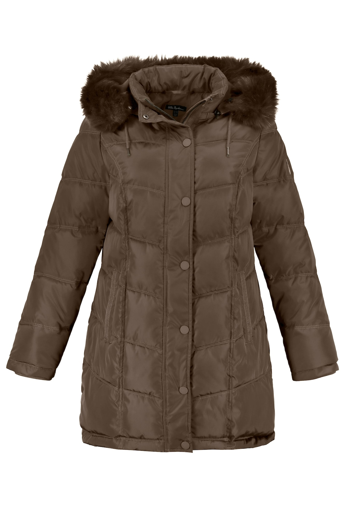 Ulla Popken Zimný kabát  kaki