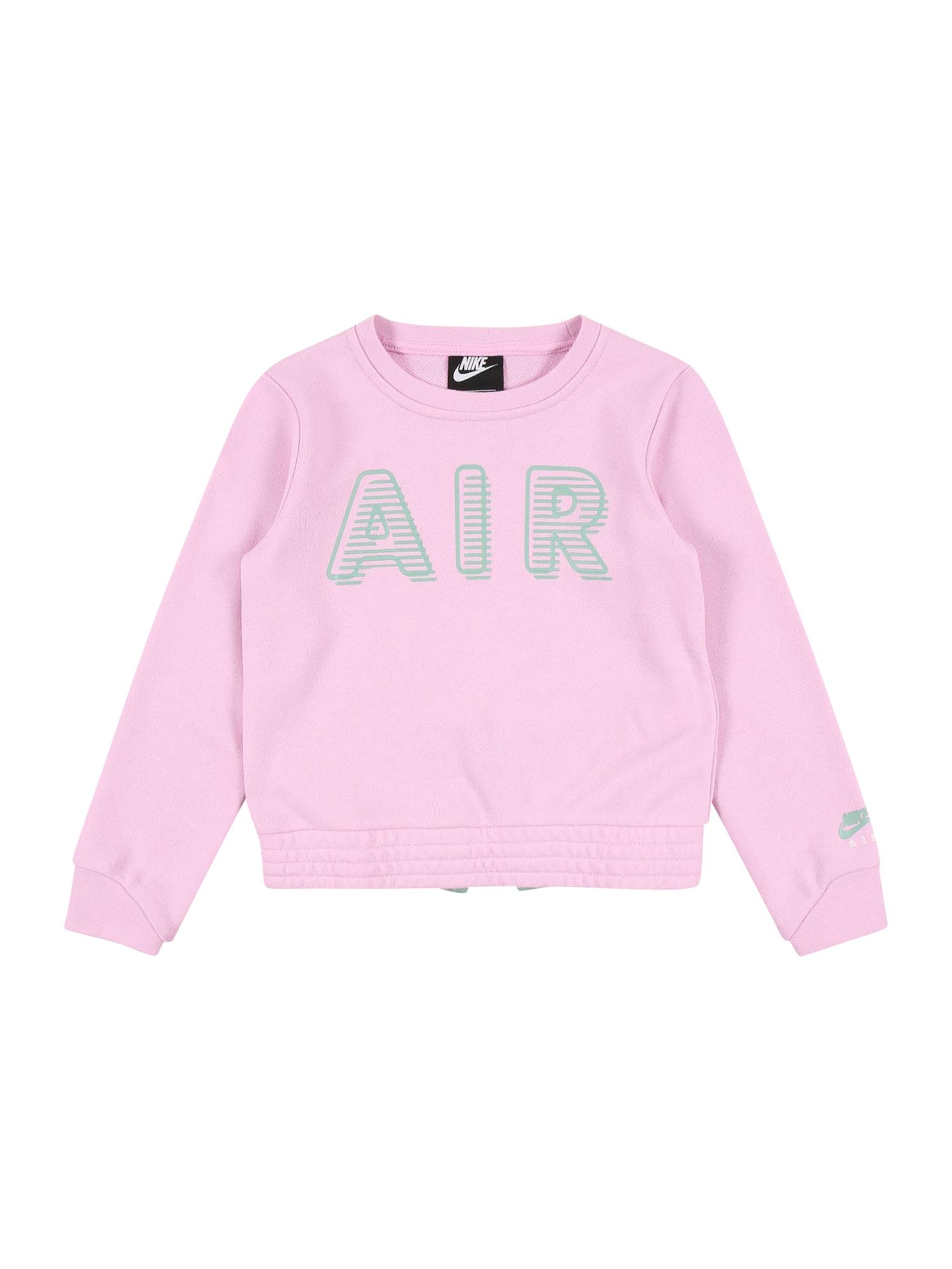 Nike Sportswear Megztinis be užsegimo rožinė / mėtų spalva