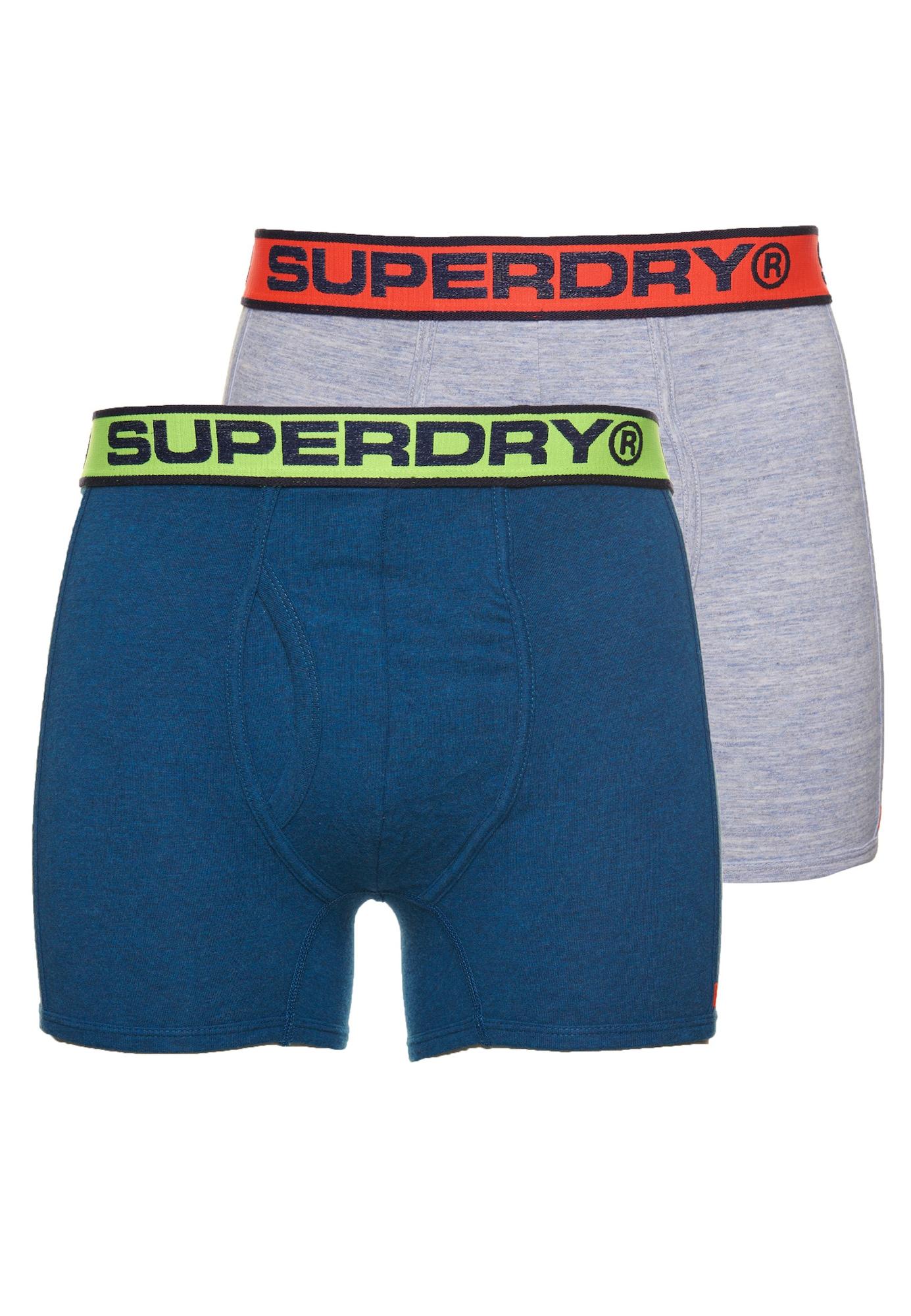 Superdry Boxer trumpikės pilka / mėlyna / raudona / geltona