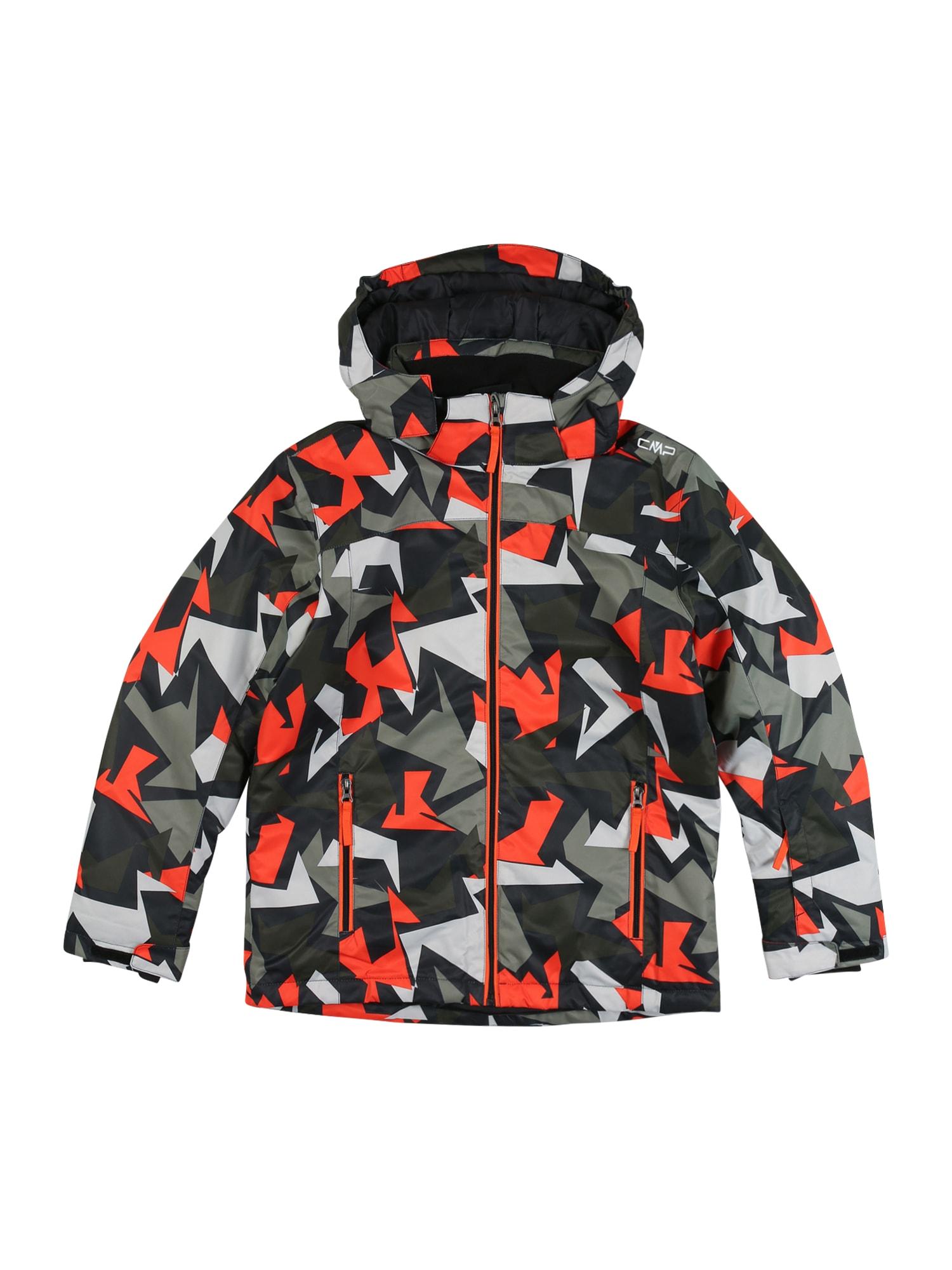CMP Športová bunda  čierna / oranžová