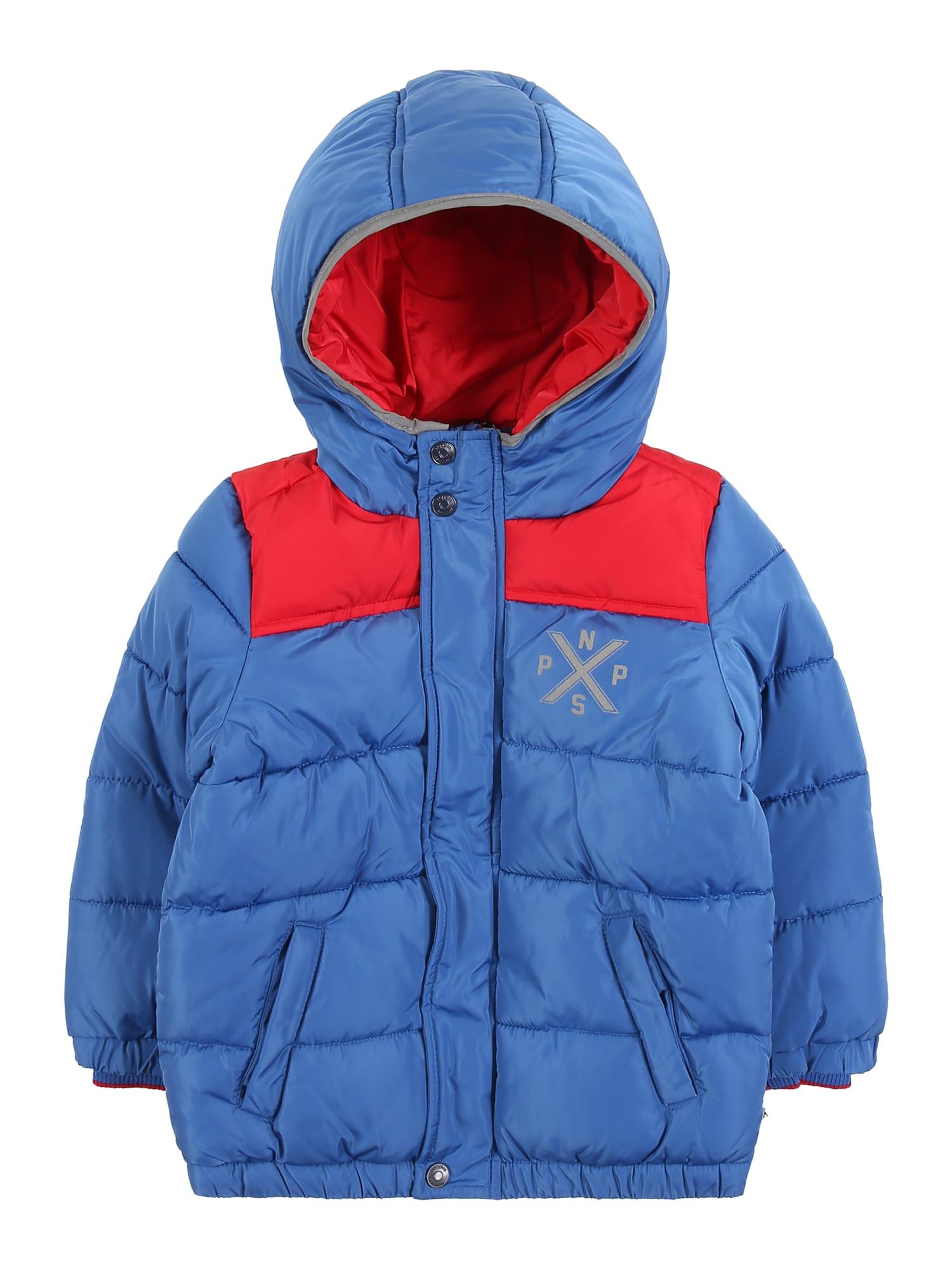 Noppies Žieminė striukė 'Lowry' mėlyna / raudona