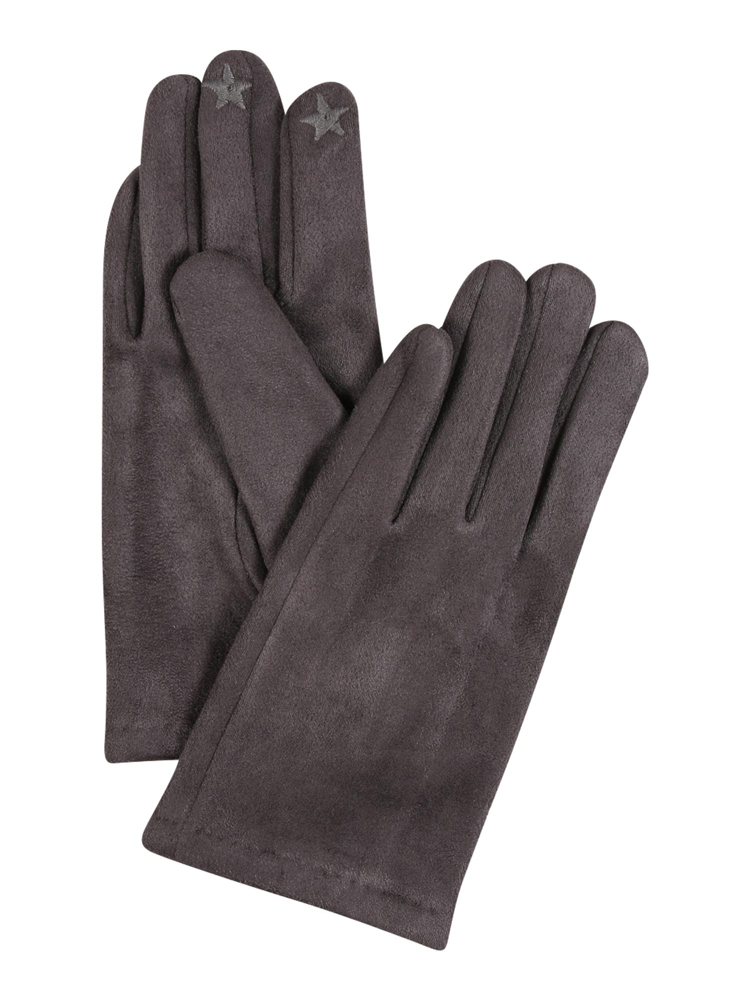 ESPRIT Pirštuotos pirštinės rausvai pilka