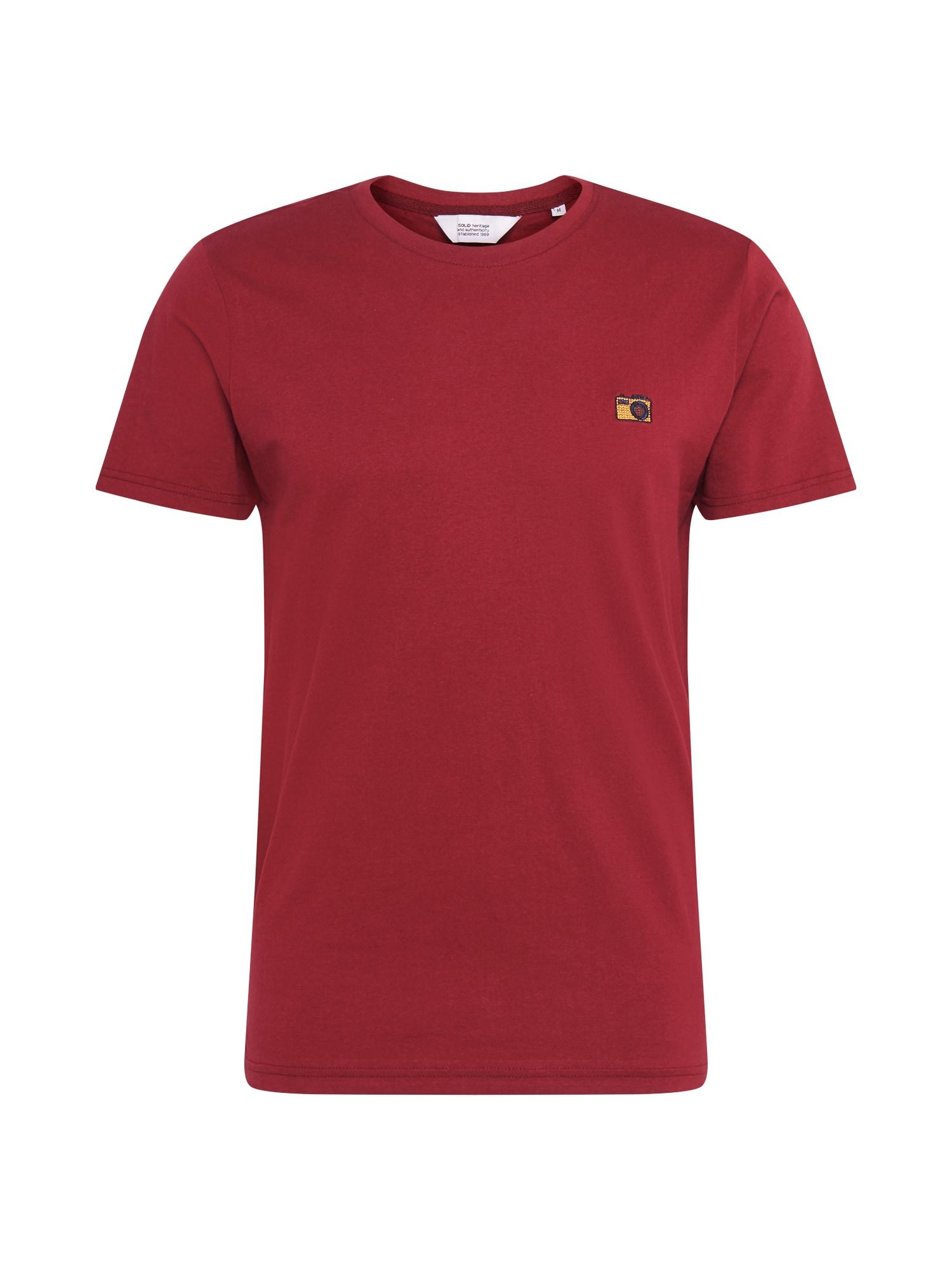 !Solid Tričko 'Mamo'  vínově červená