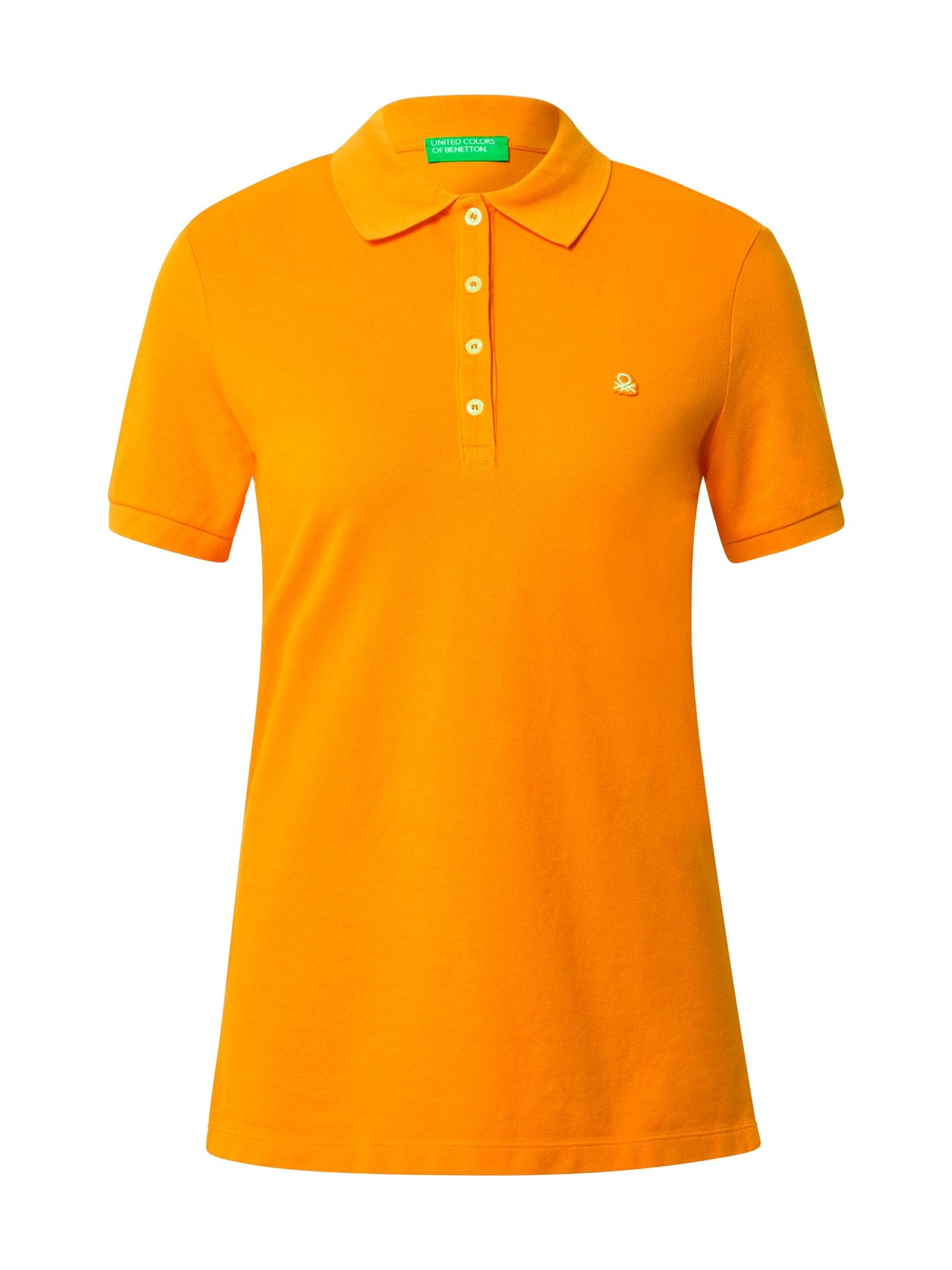 UNITED COLORS OF BENETTON Marškinėliai šviesiai oranžinė