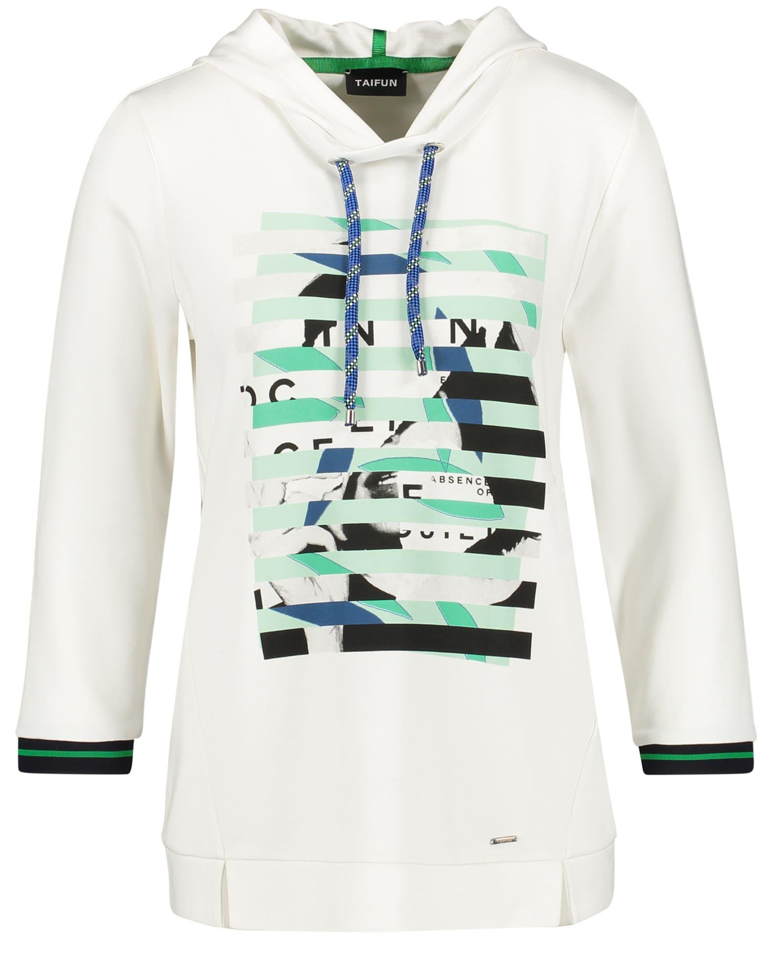 TAIFUN Marškinėliai balta / žalia / juoda / mėlyna
