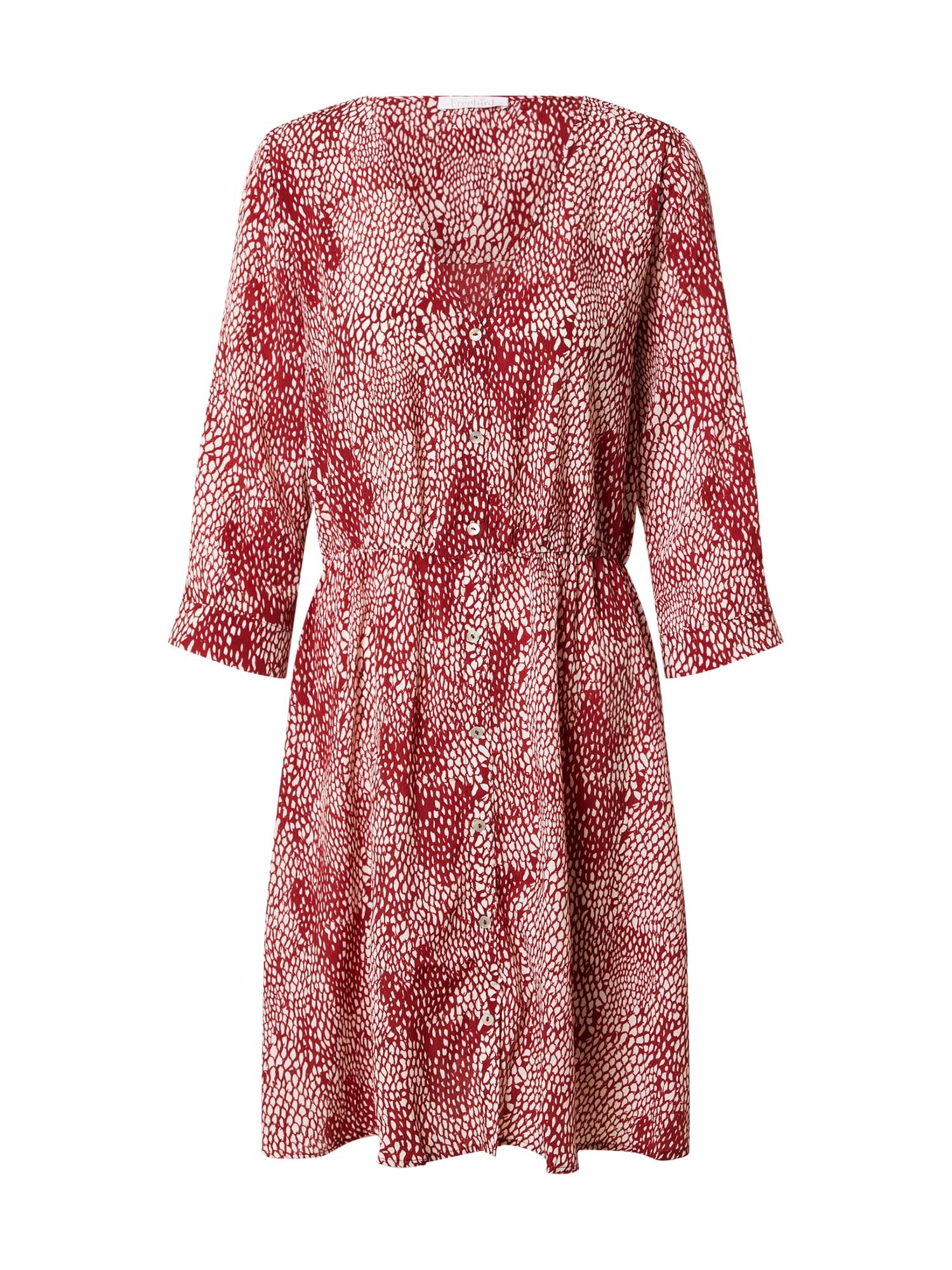Freebird Palaidinės tipo suknelė burgundiško vyno spalva / balta