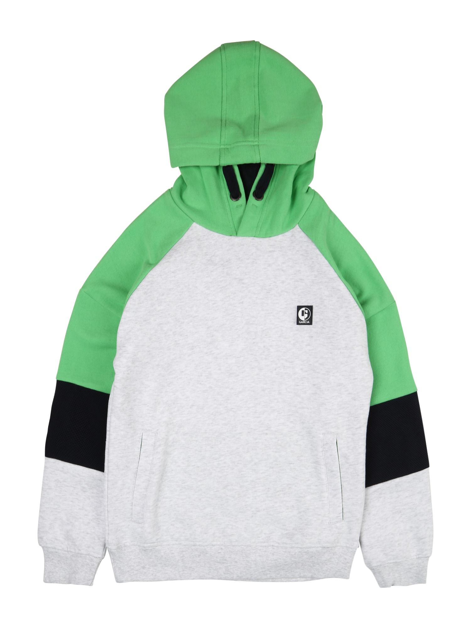 GARCIA Megztinis be užsegimo margai pilka / žolės žalia / juoda