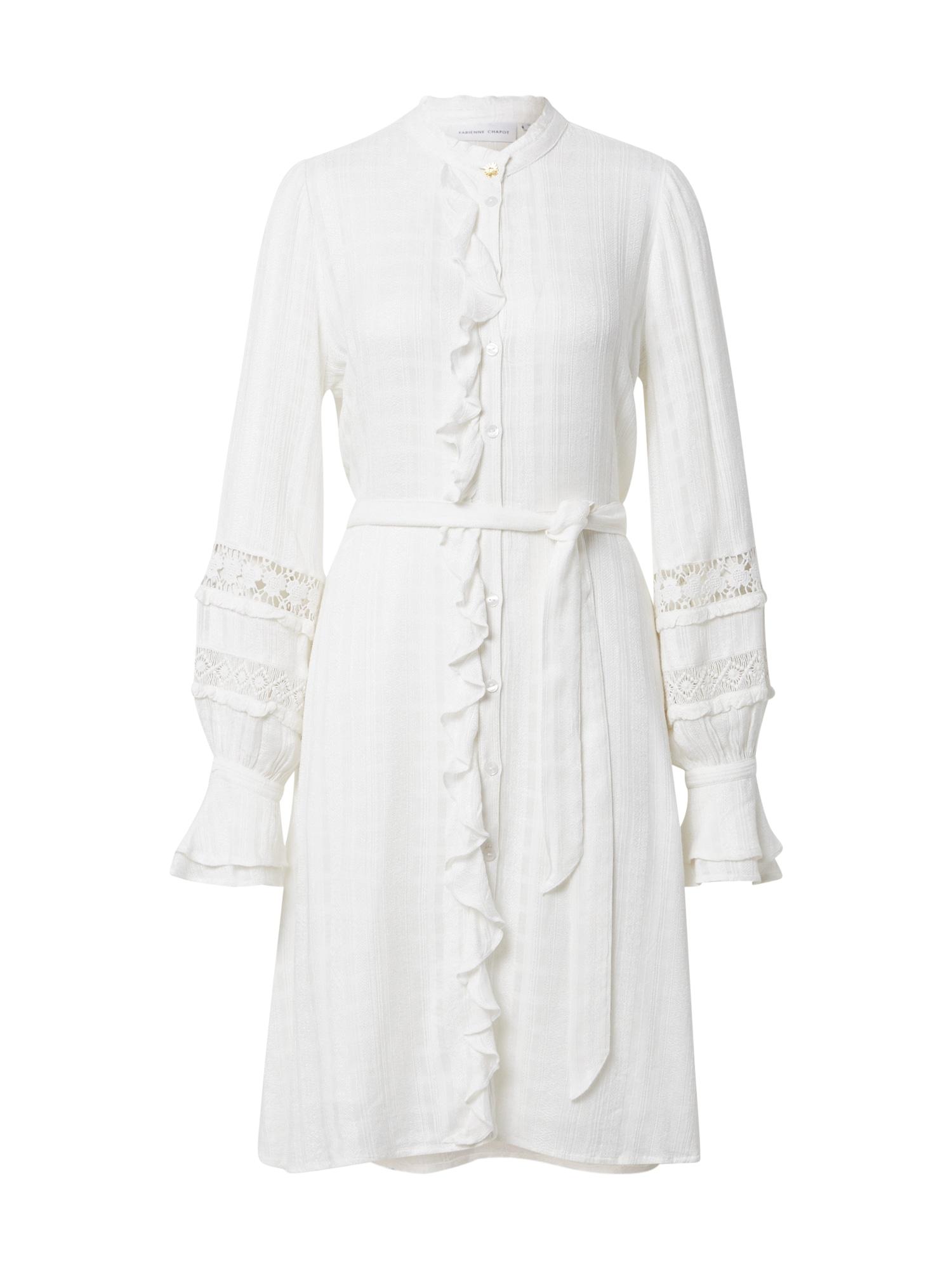 Fabienne Chapot Košilové šaty 'Leo'  bílá