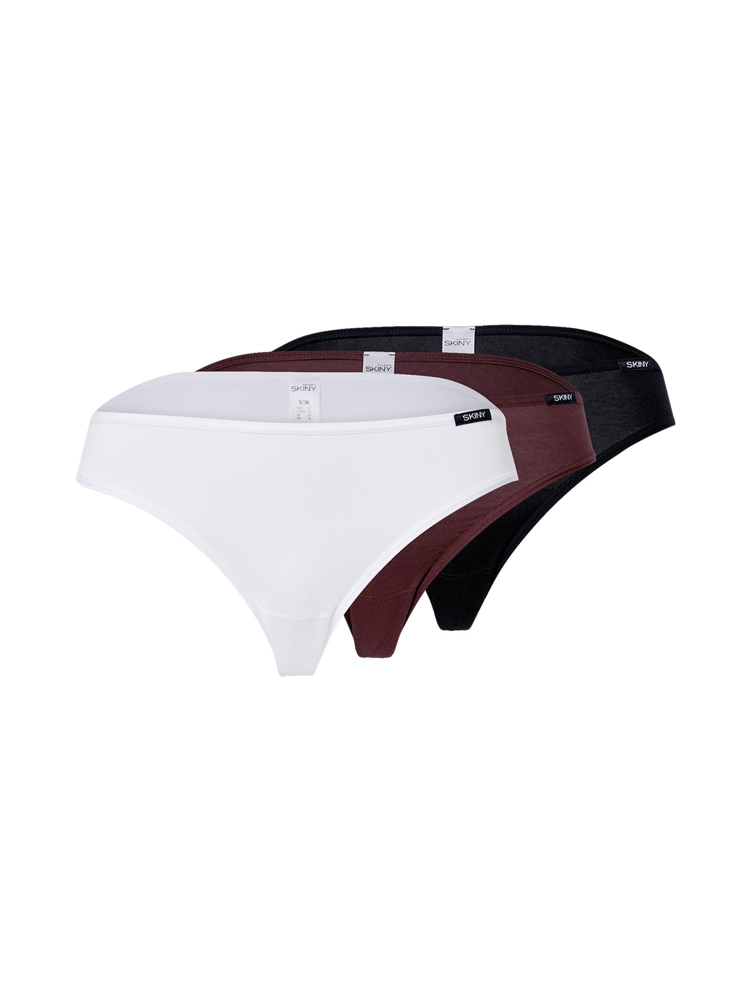 Skiny Kalhotky 'Essentials Rio'  červená / bílá / černá