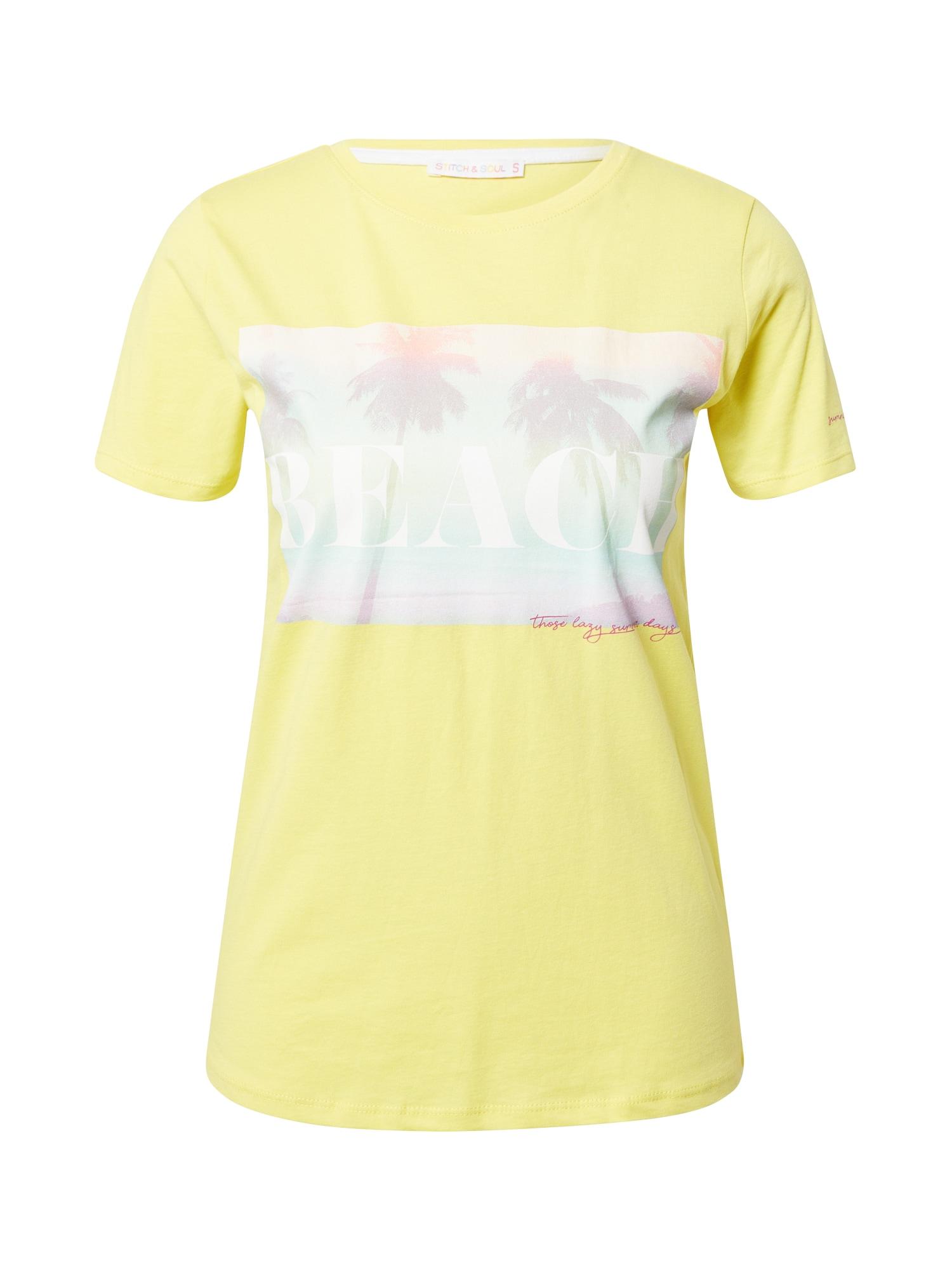 Stitch and Soul Marškinėliai geltona / mėtų spalva / balta