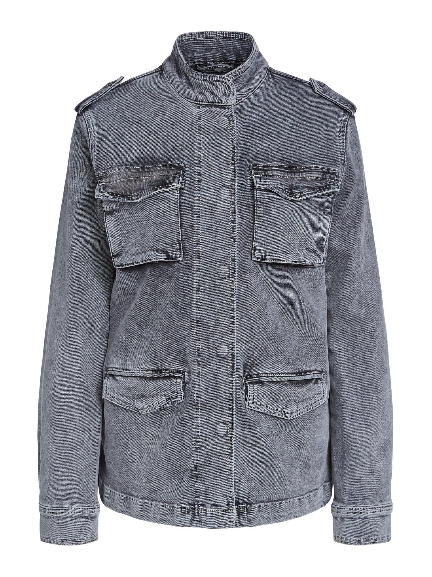 SET Přechodná bunda  šedá džínová