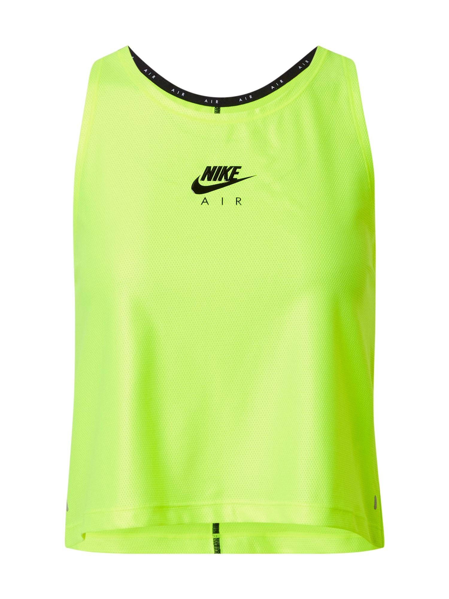 Nike Sportswear Palaidinė be rankovių 'Air' šviesiai geltona / juoda