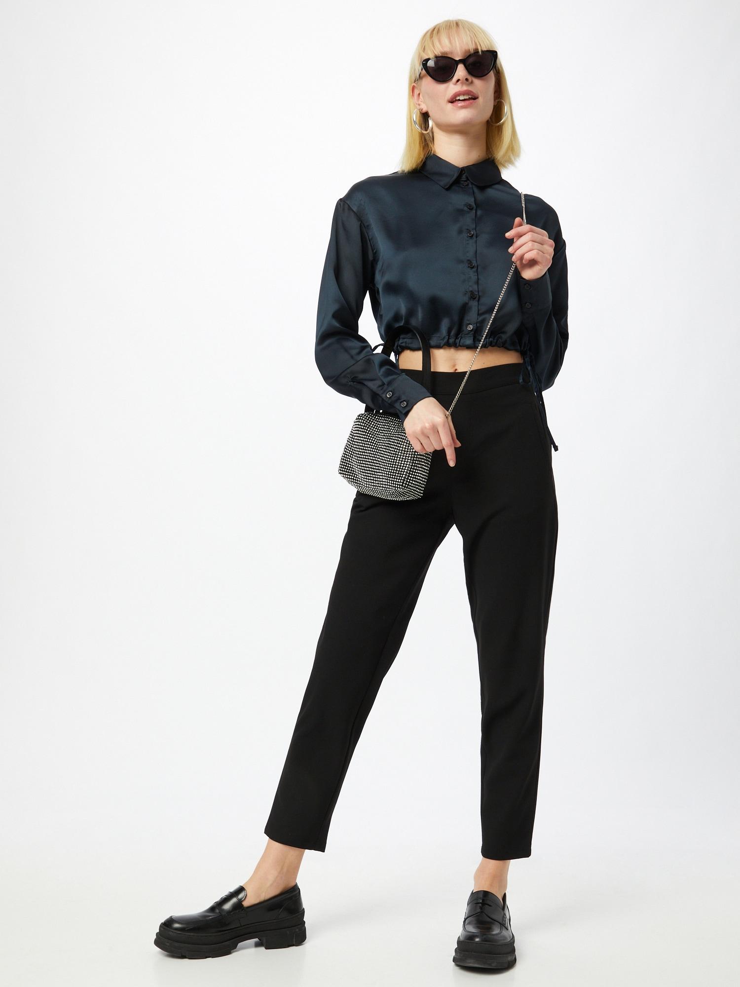 PULZ Jeans Nohavice 'VICTORIA'  čierna.