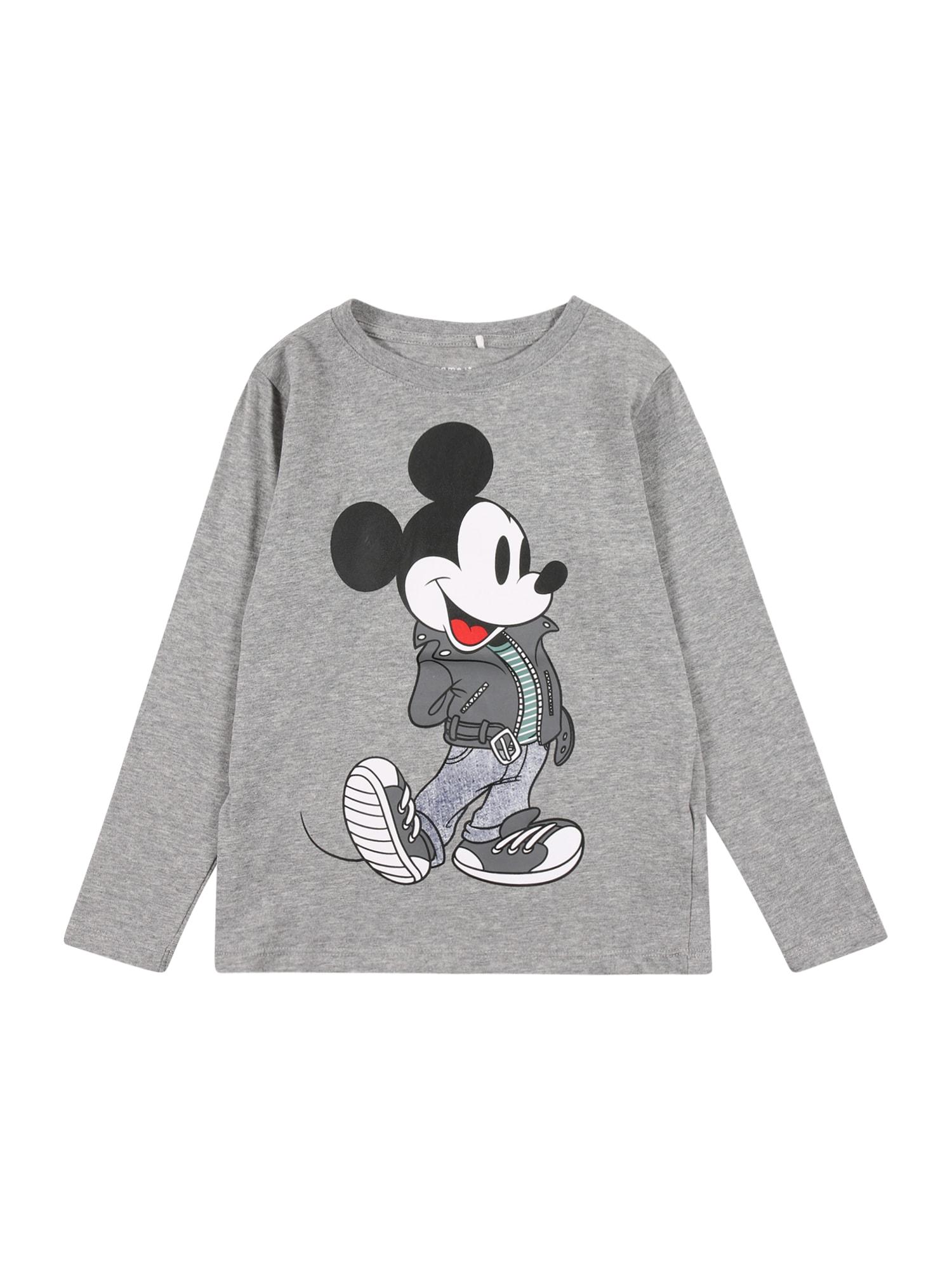 NAME IT Marškinėliai mišrios spalvos / margai pilka