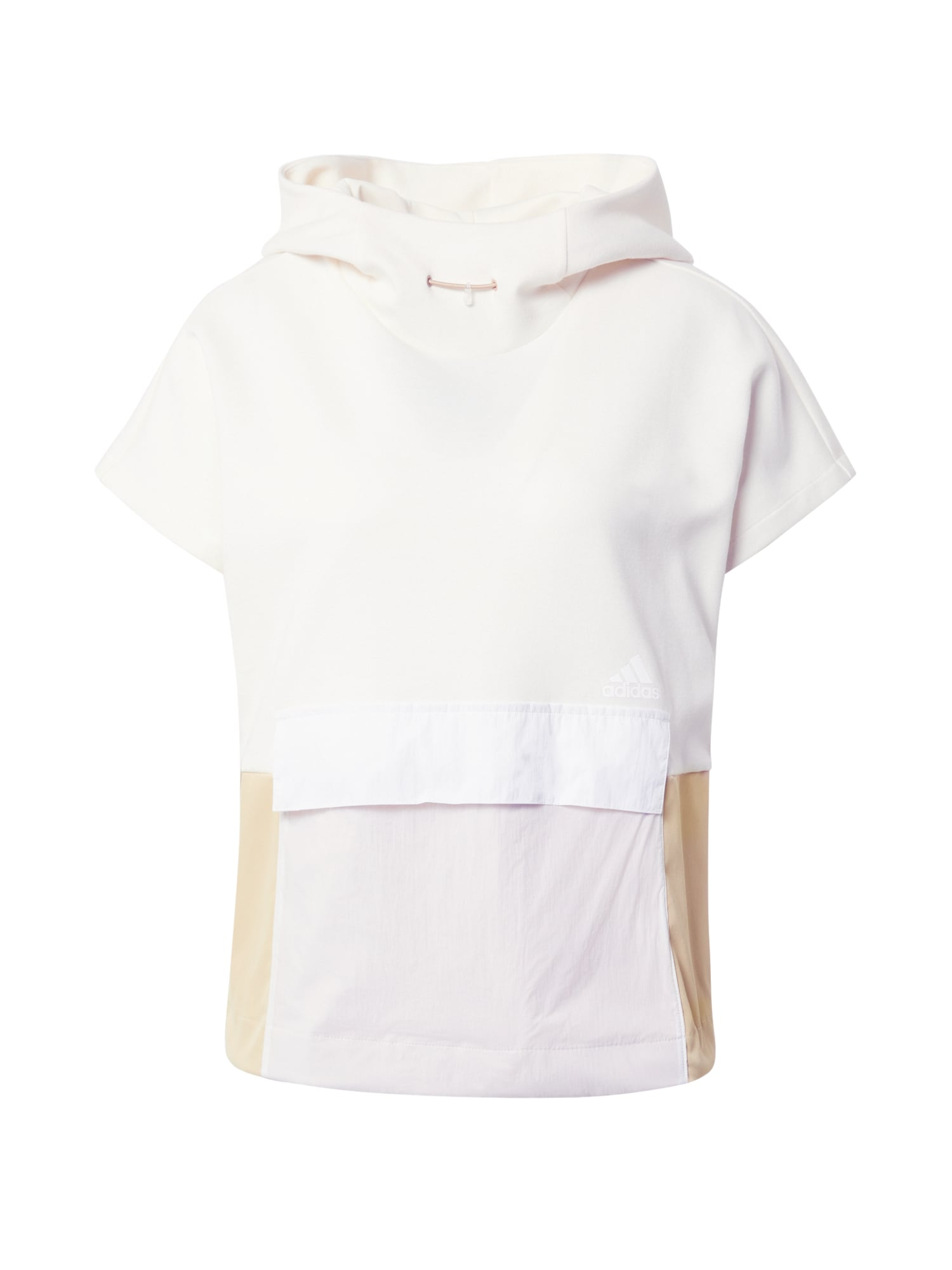 ADIDAS PERFORMANCE Sportinio tipo megztinis balta / smėlio