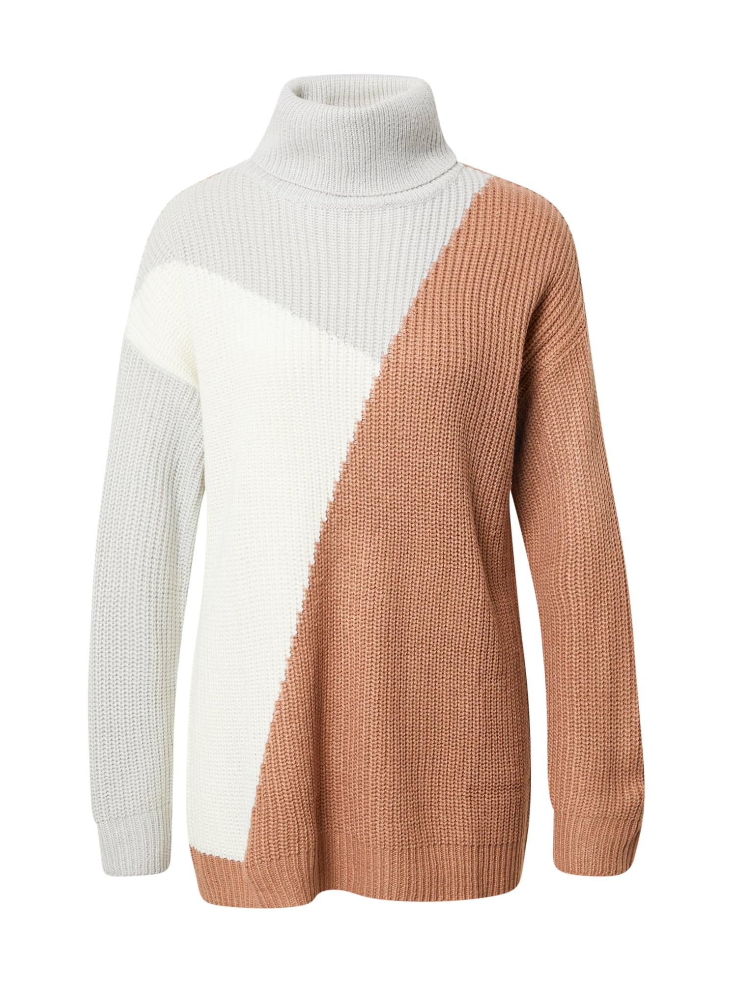 AX Paris Megztinis pilka / ruda / balta