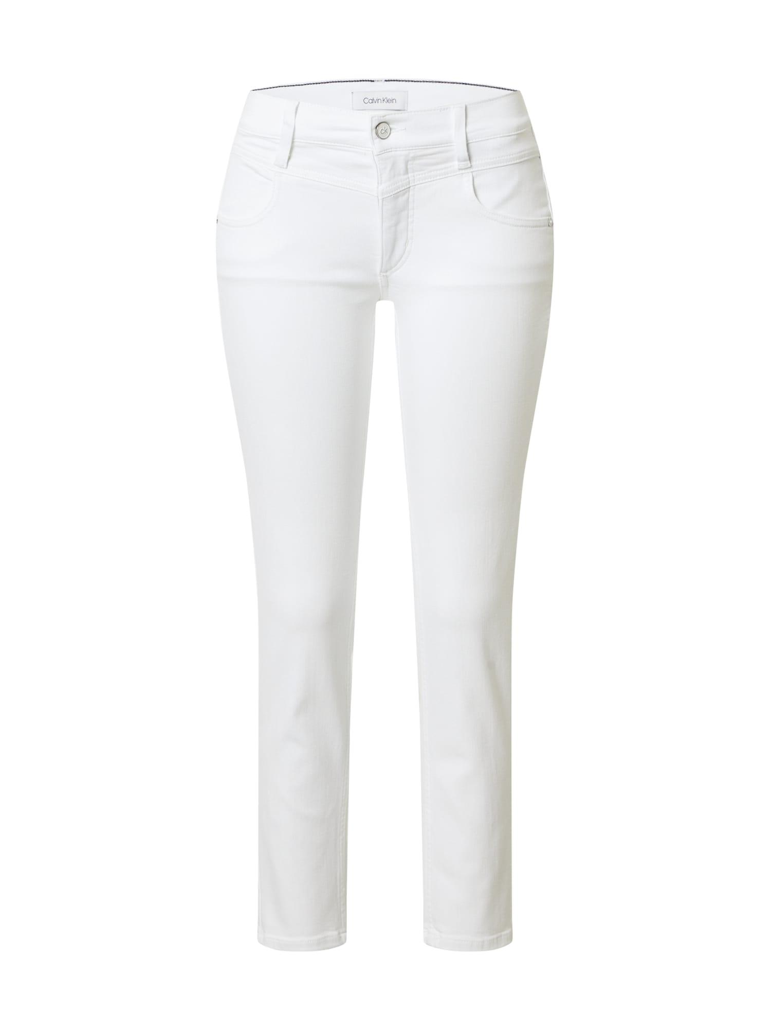 Calvin Klein Džinsai balto džinso spalva