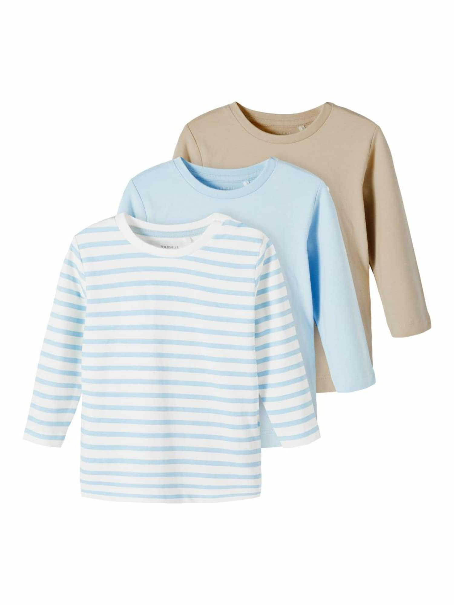 NAME IT Marškinėliai balta / šviesiai mėlyna