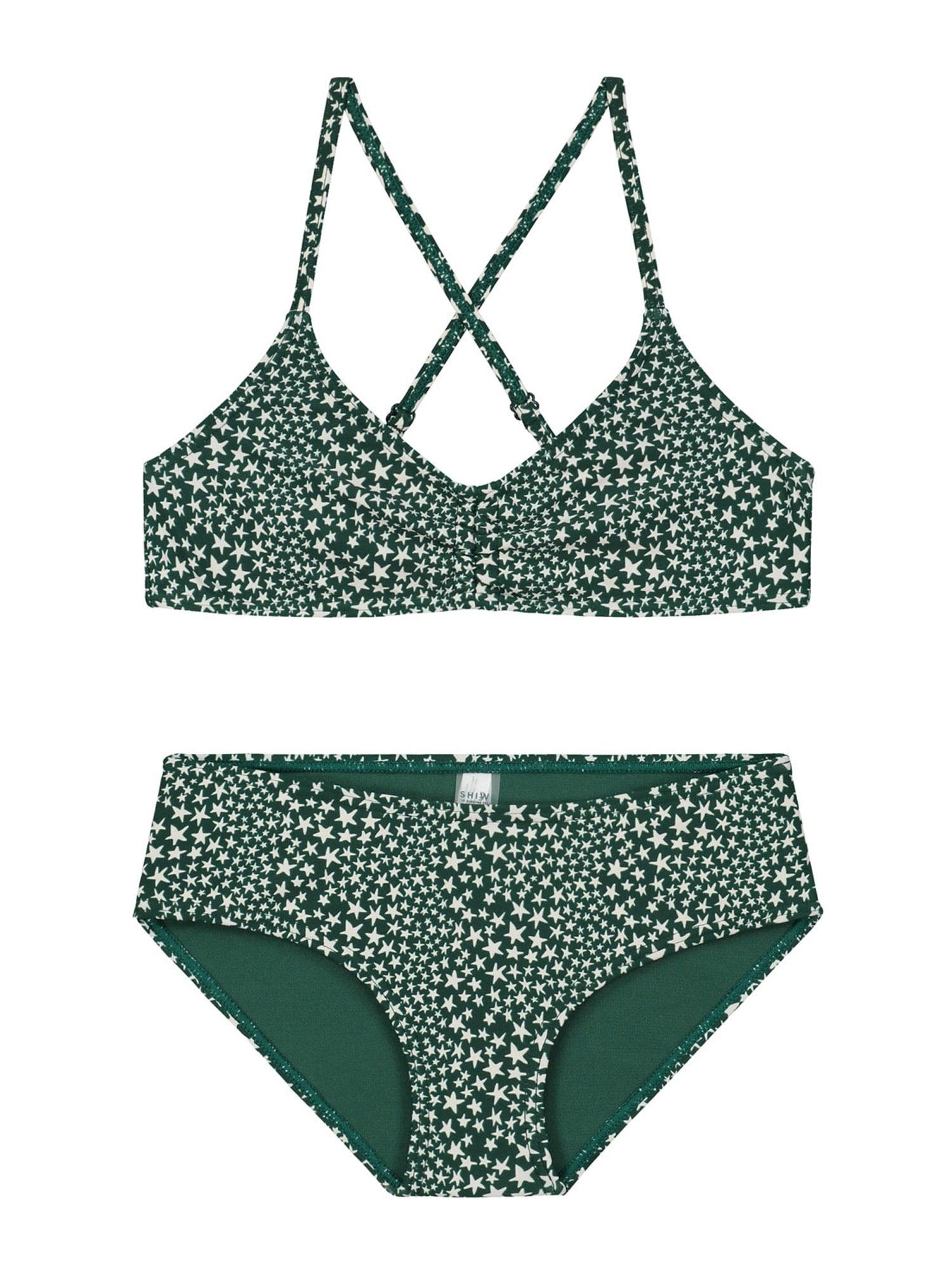 Shiwi Bikinis smaragdinė spalva / balta
