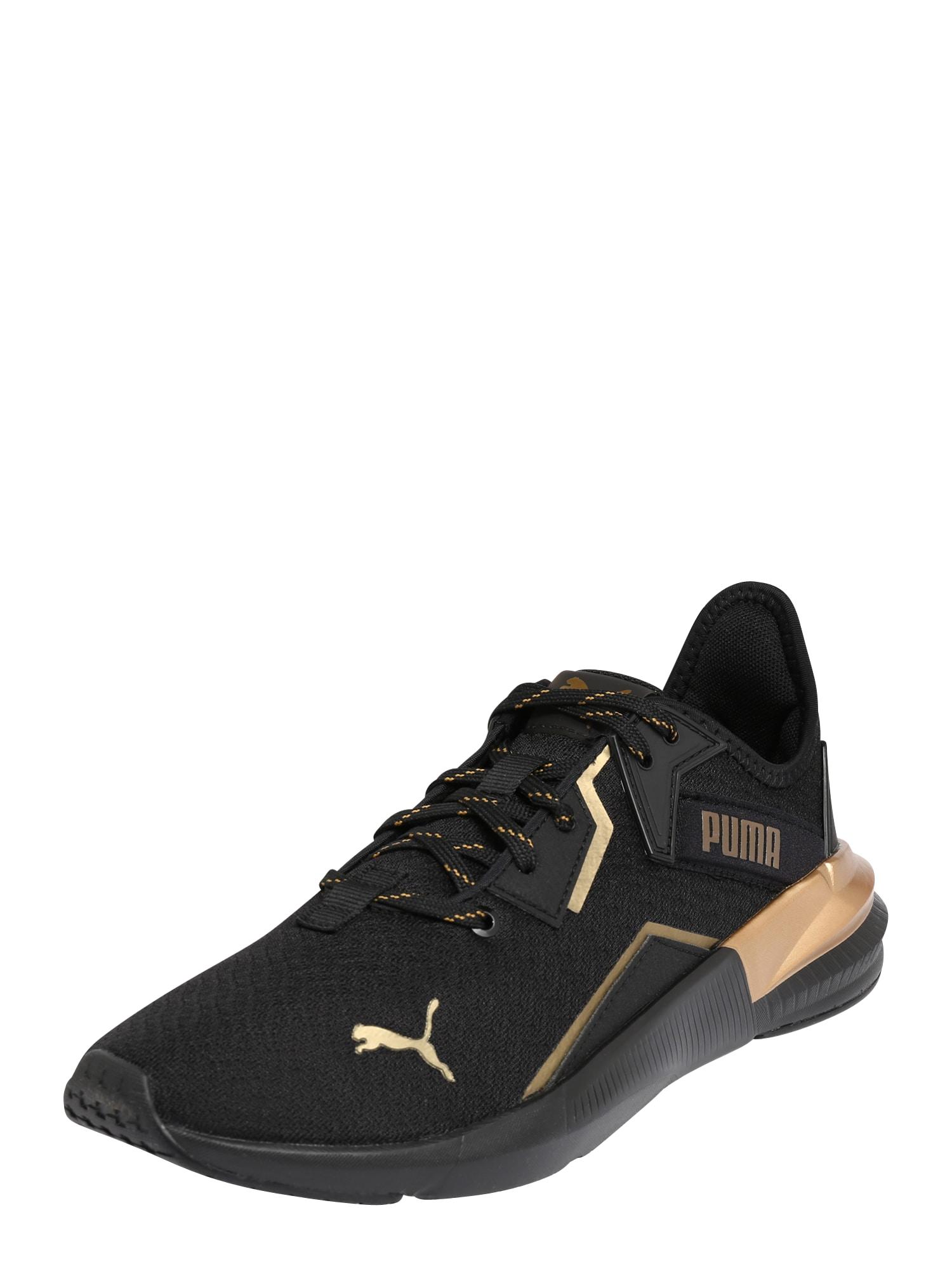 PUMA Sportovní boty 'Platinum'  černá / zlatá