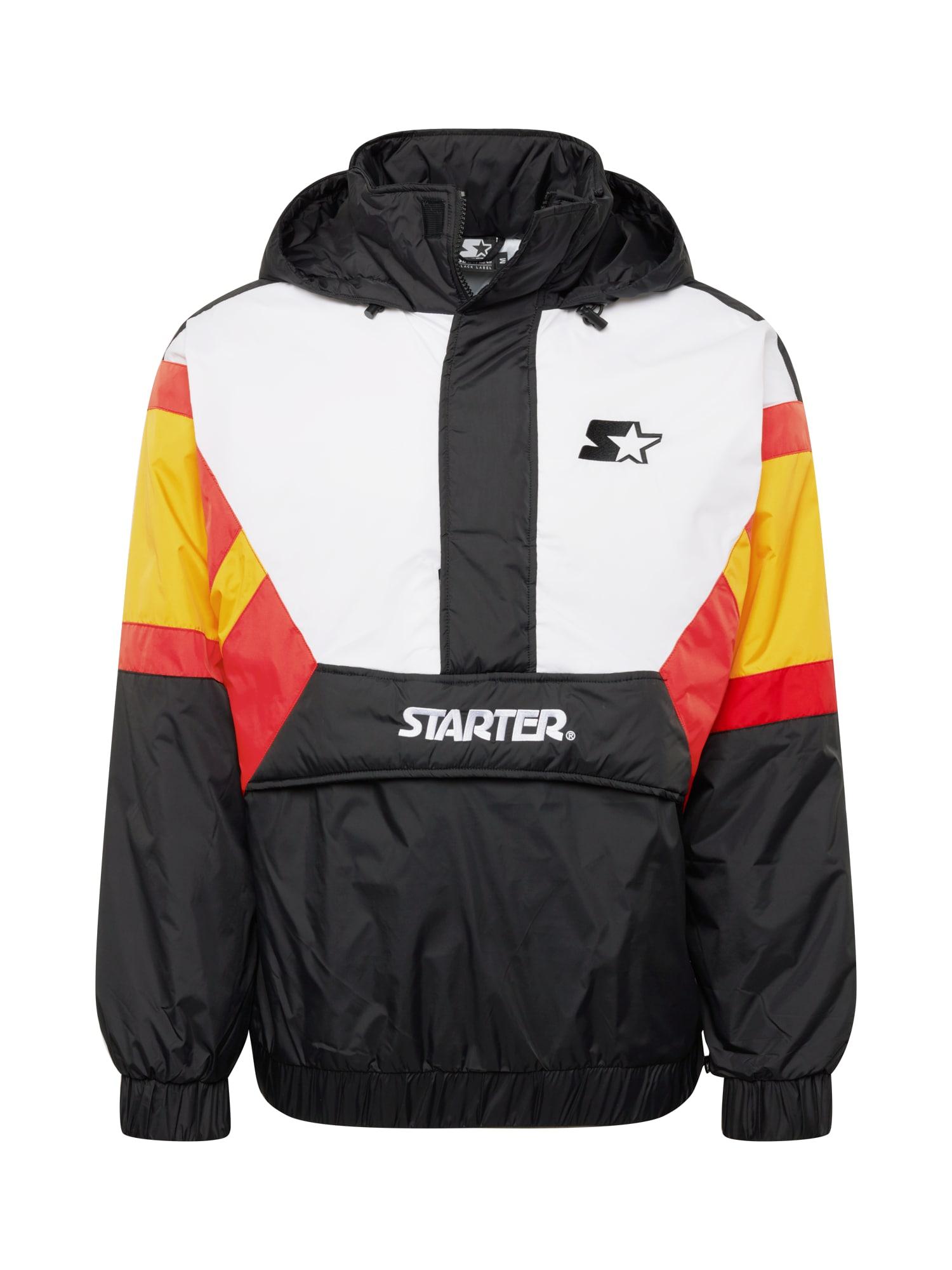 Starter Black Label Demisezoninė striukė juoda / balta / raudona / geltona