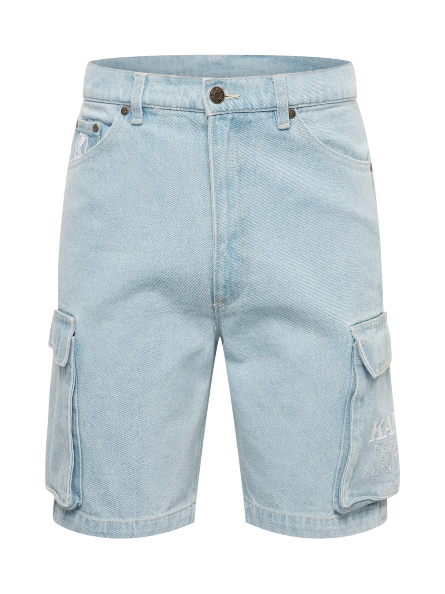 Karl Kani Darbinio stiliaus džinsai šviesiai mėlyna
