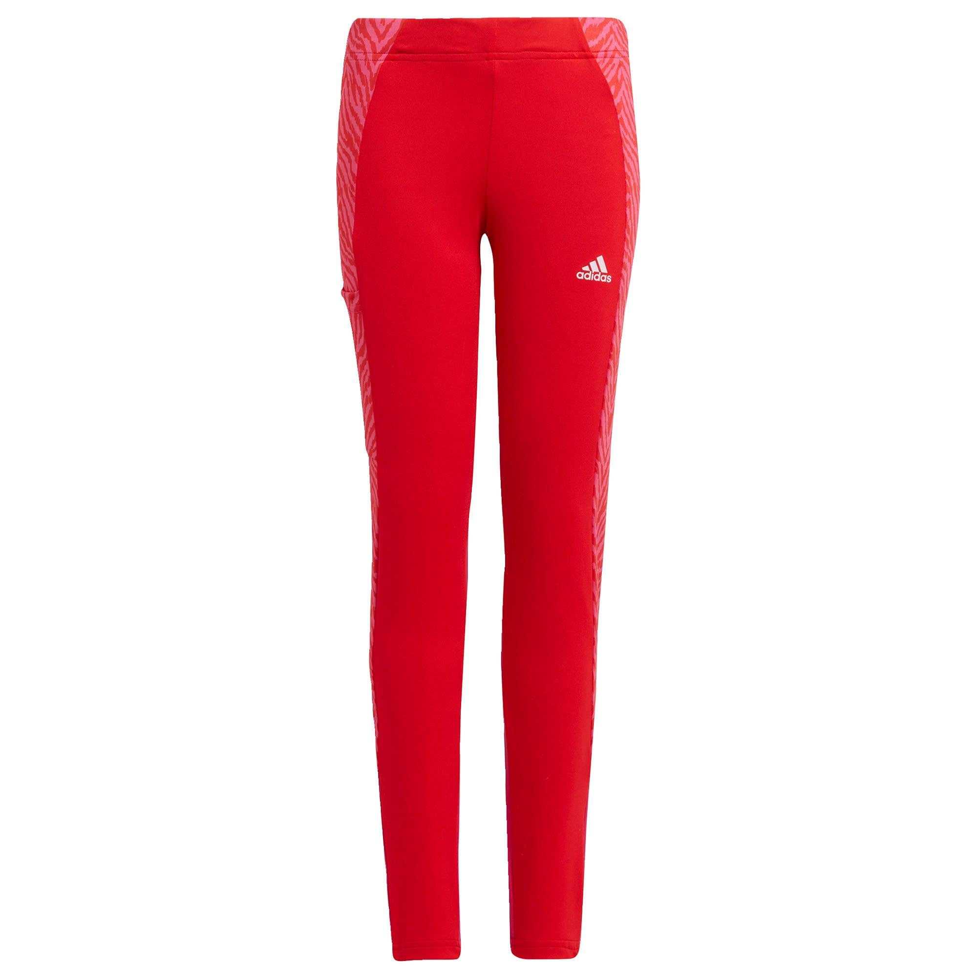 ADIDAS PERFORMANCE Sportinės kelnės 'Designed 2 Move' raudona / rausvai raudona / balta