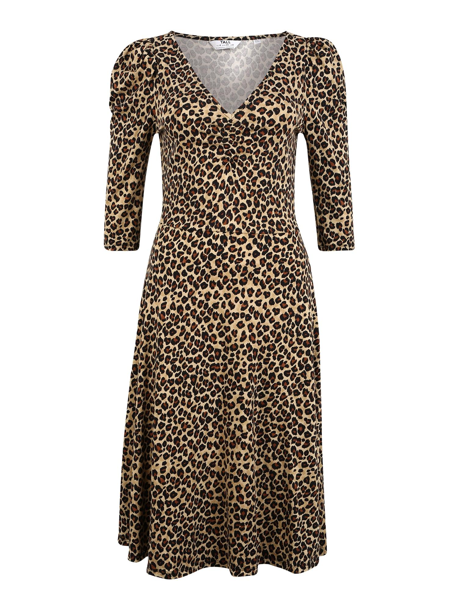 Dorothy Perkins (Tall) Suknelė smėlio / juoda / ruda (konjako)