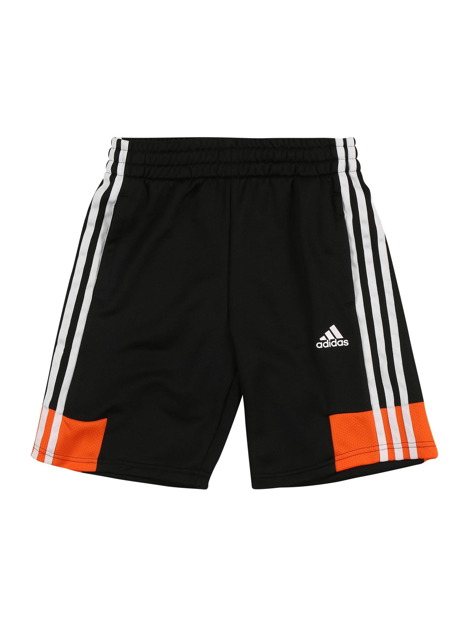 ADIDAS PERFORMANCE Sportinės kelnės balta / juoda / oranžinė