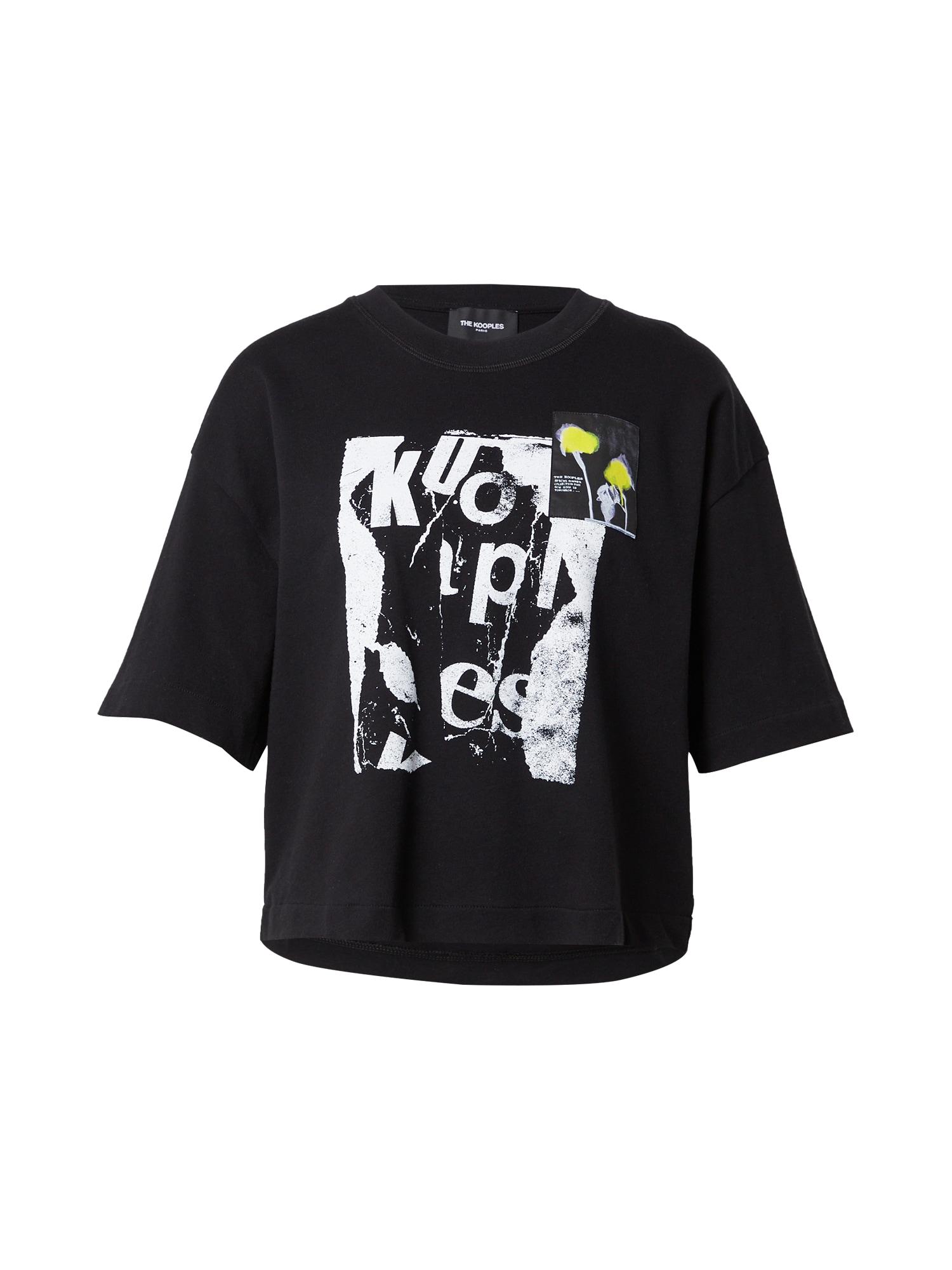 The Kooples Marškinėliai juoda / balta