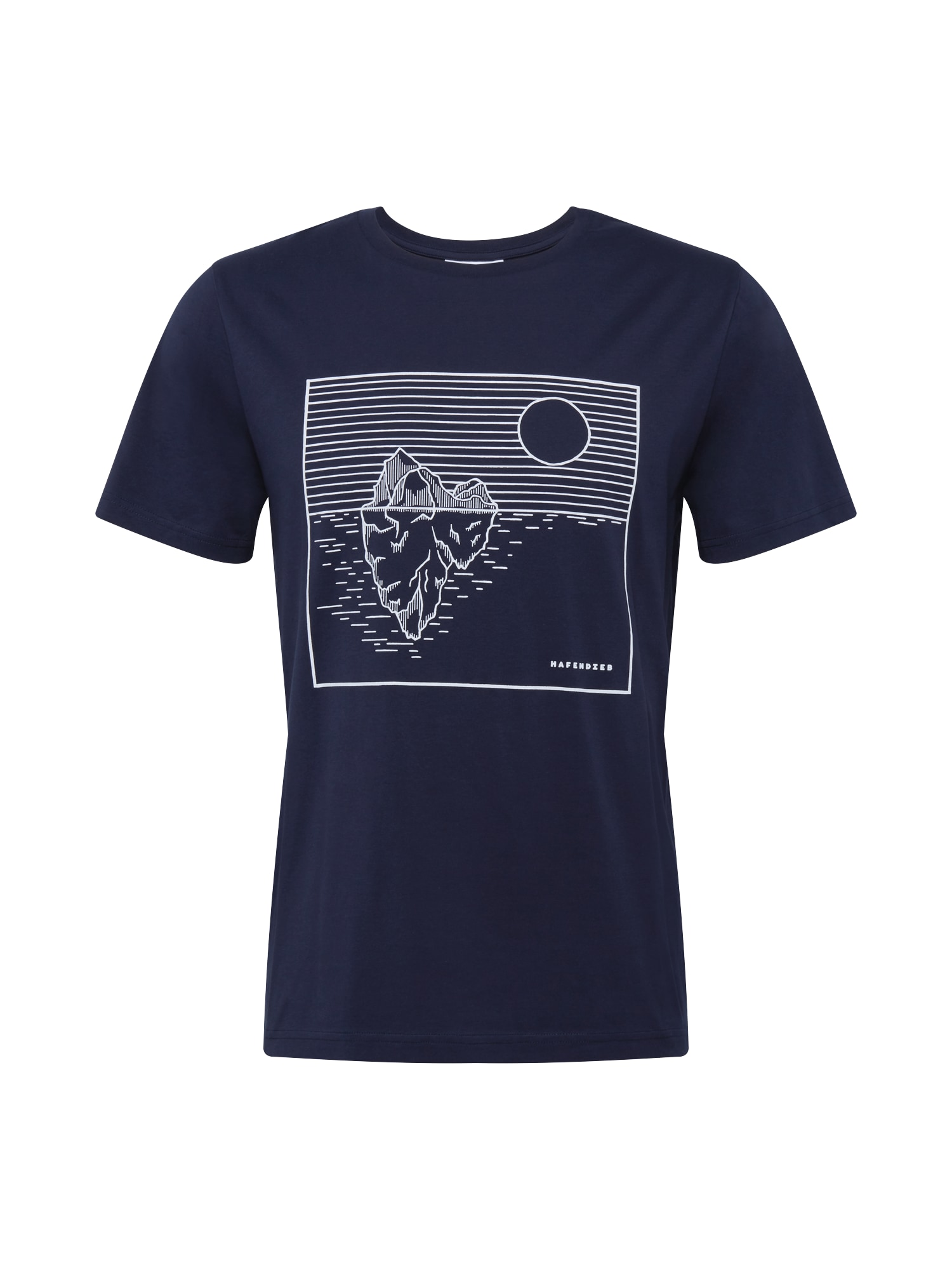 Hafendieb Tričko 'Klima'  námořnická modř / bílá
