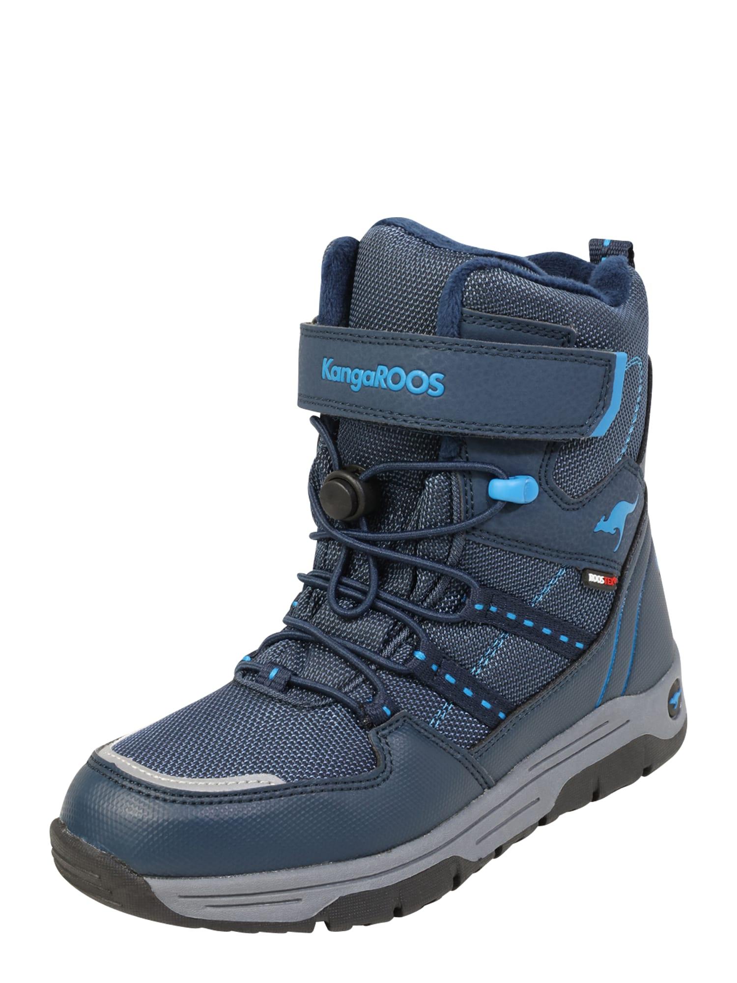 KangaROOS Sniego batai 'Novice EV RTX' mėlyna / tamsiai mėlyna