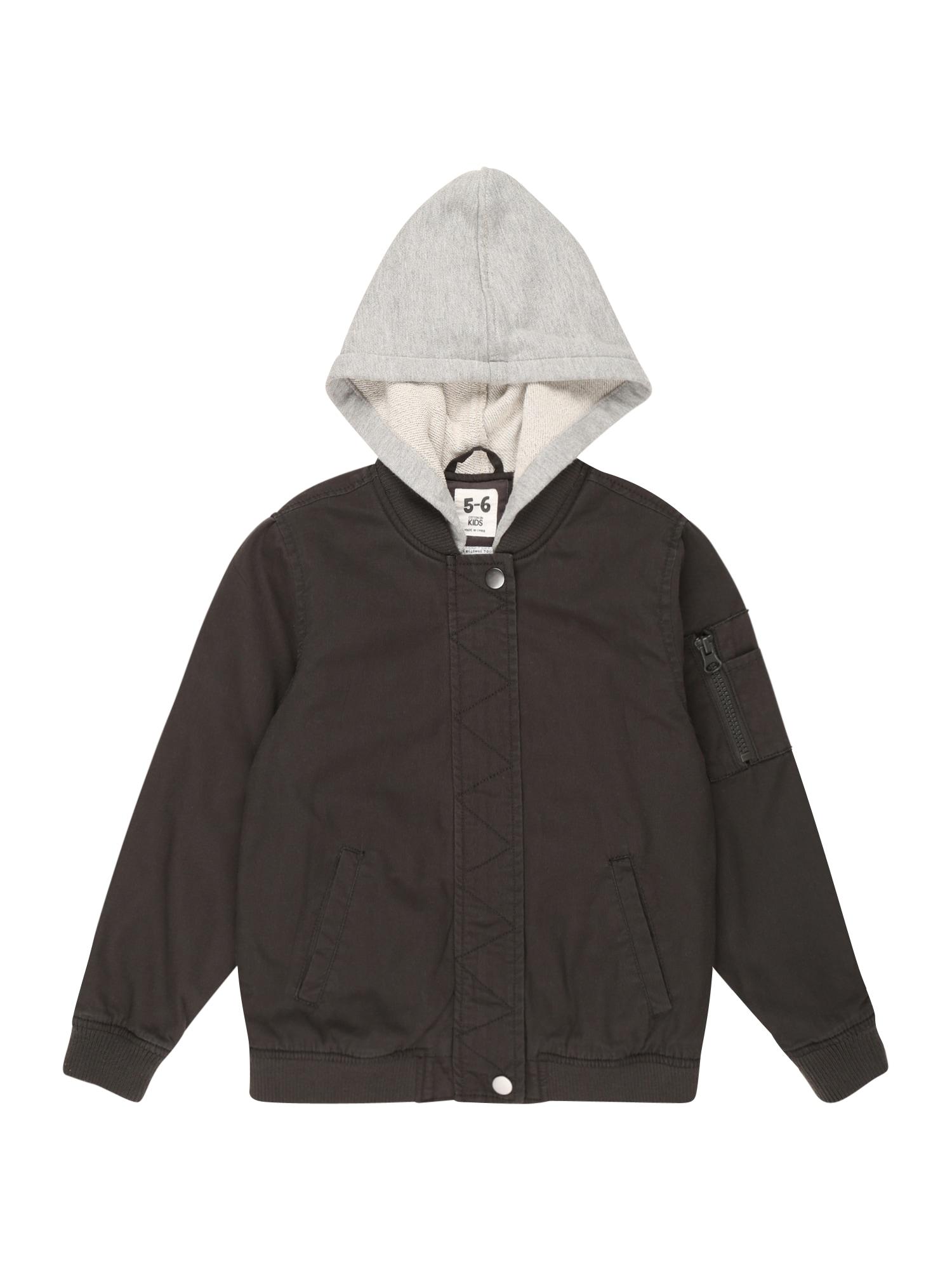 Cotton On Přechodná bunda  černá / šedý melír