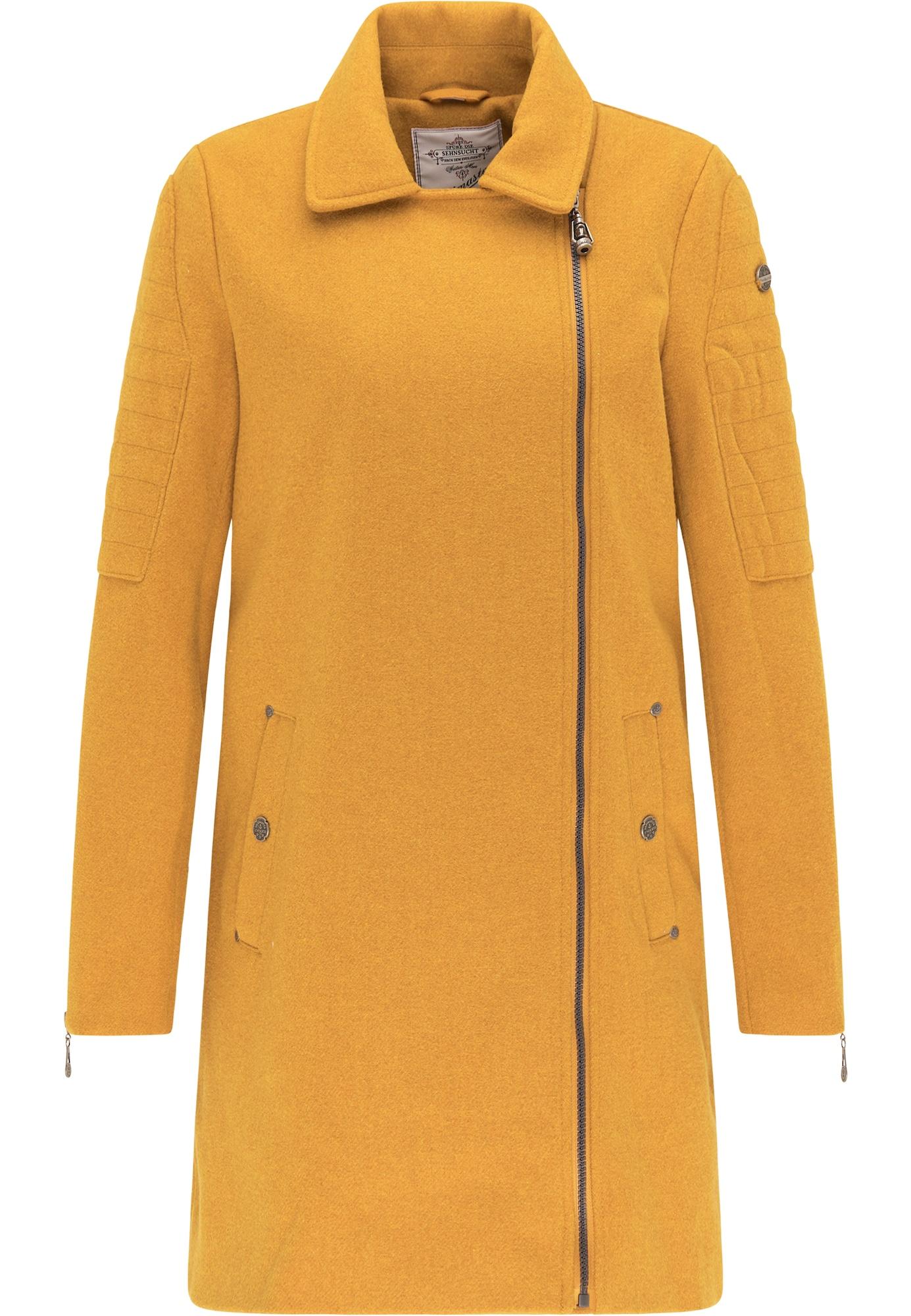 DreiMaster Vintage Demisezoninis paltas aukso geltonumo spalva