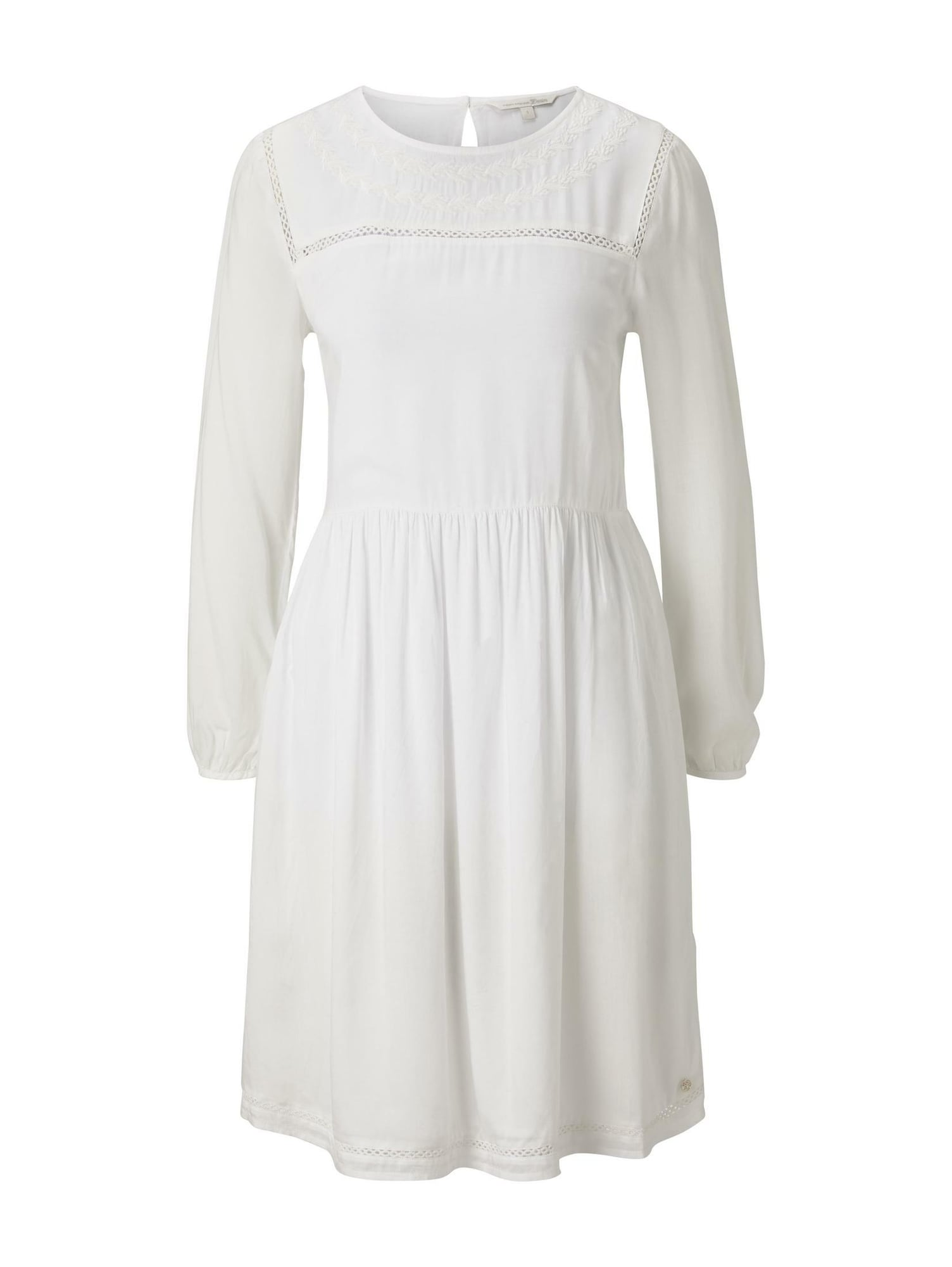 TOM TAILOR DENIM Šaty  bílá