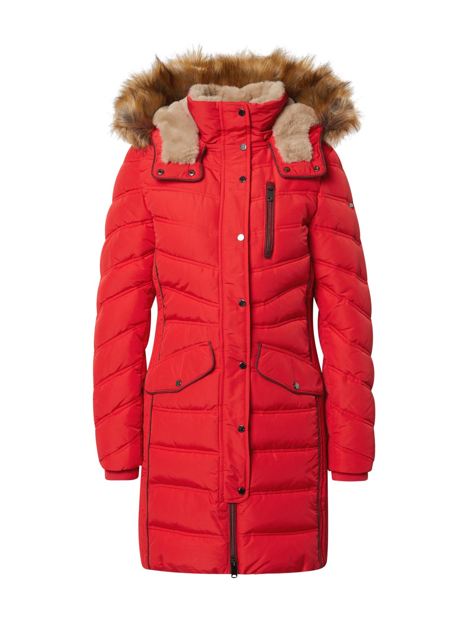 TOM TAILOR Zimní kabát 'Signature'  jasně červená