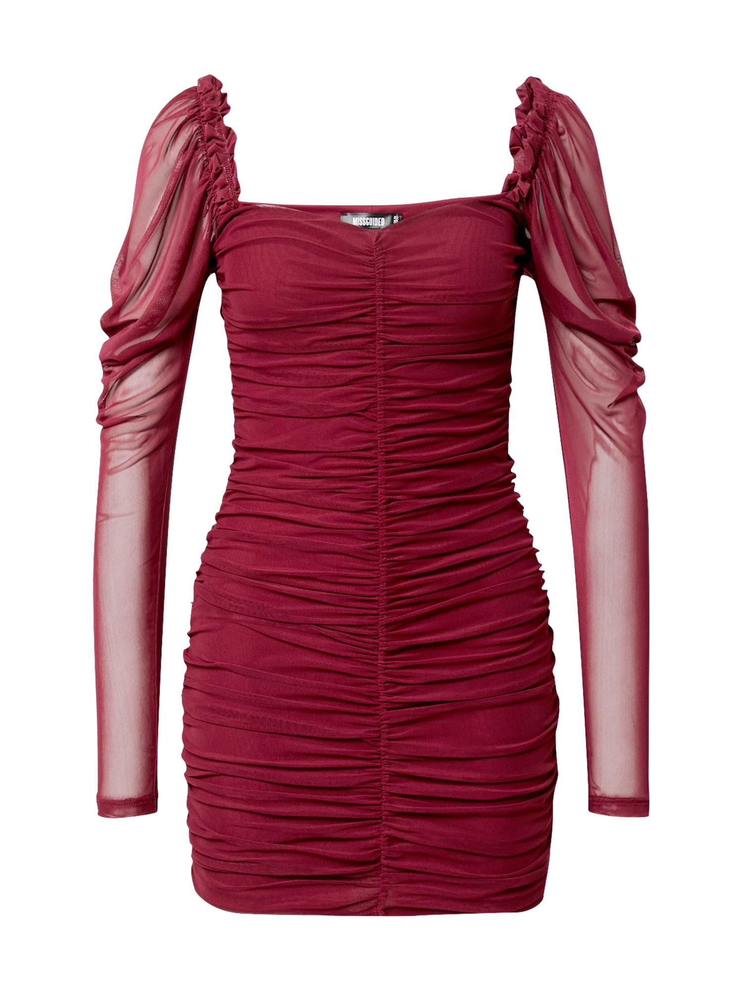 Missguided Kokteilinė suknelė slyvų spalva