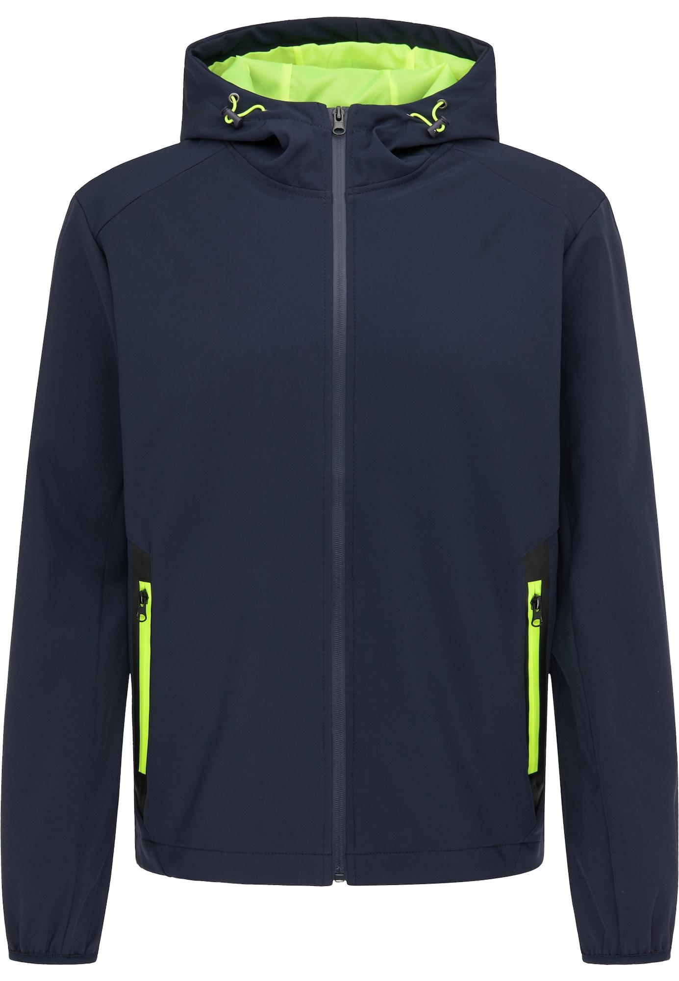 MO Demisezoninė striukė tamsiai mėlyna / neoninė žalia
