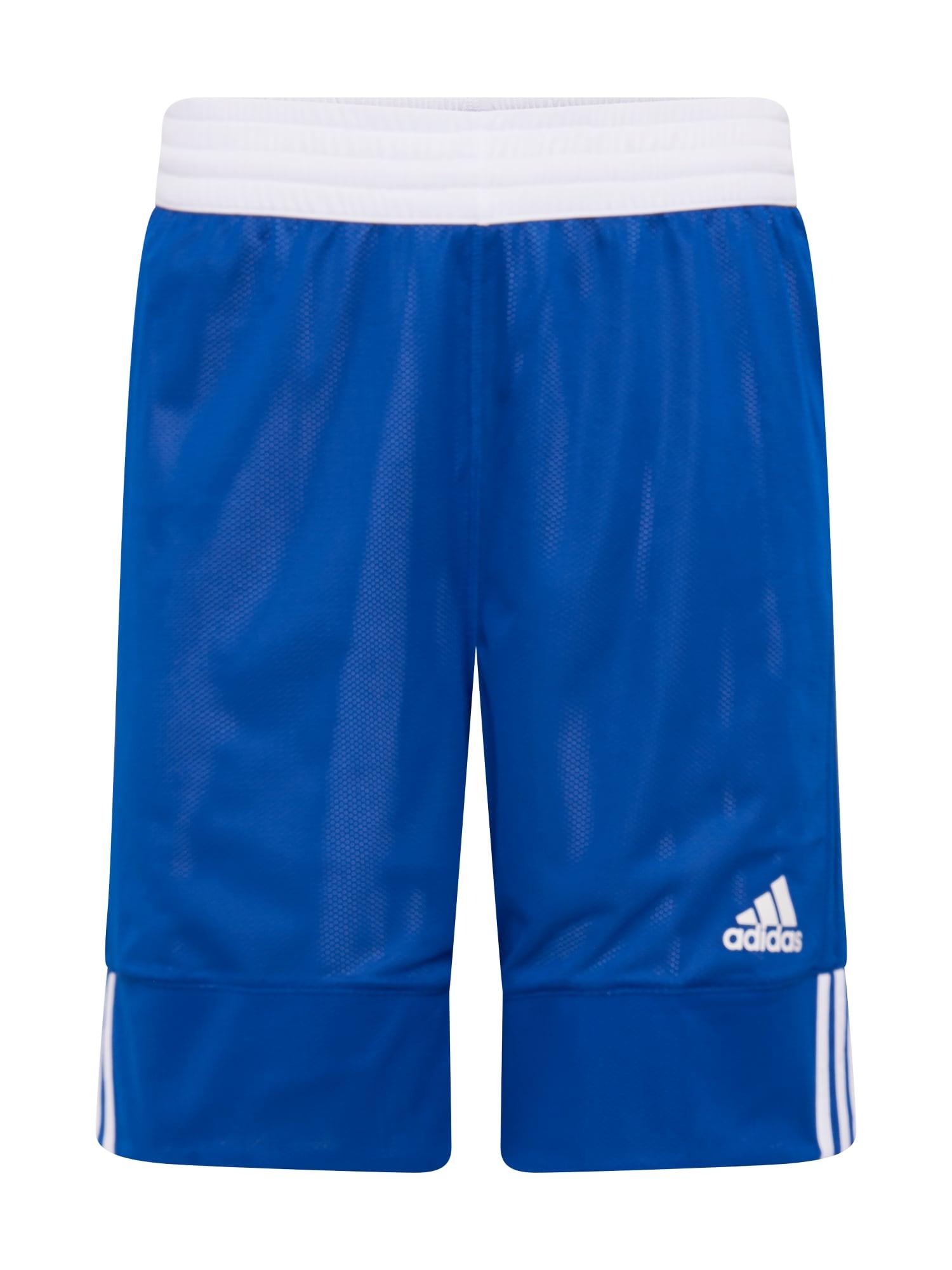 ADIDAS PERFORMANCE Sportinės kelnės mėlyna / balta