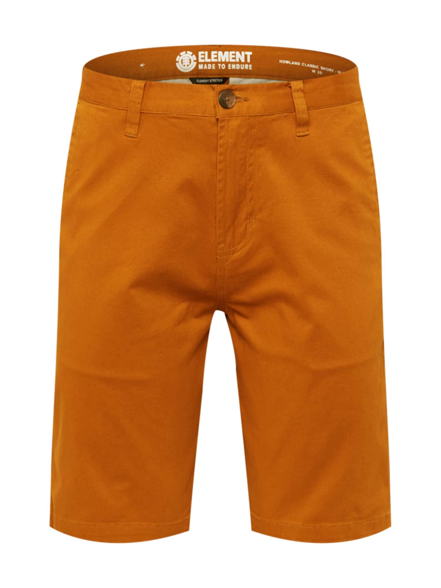 """ELEMENT """"Chino"""" stiliaus kelnės ruda (konjako) / oranžinė"""