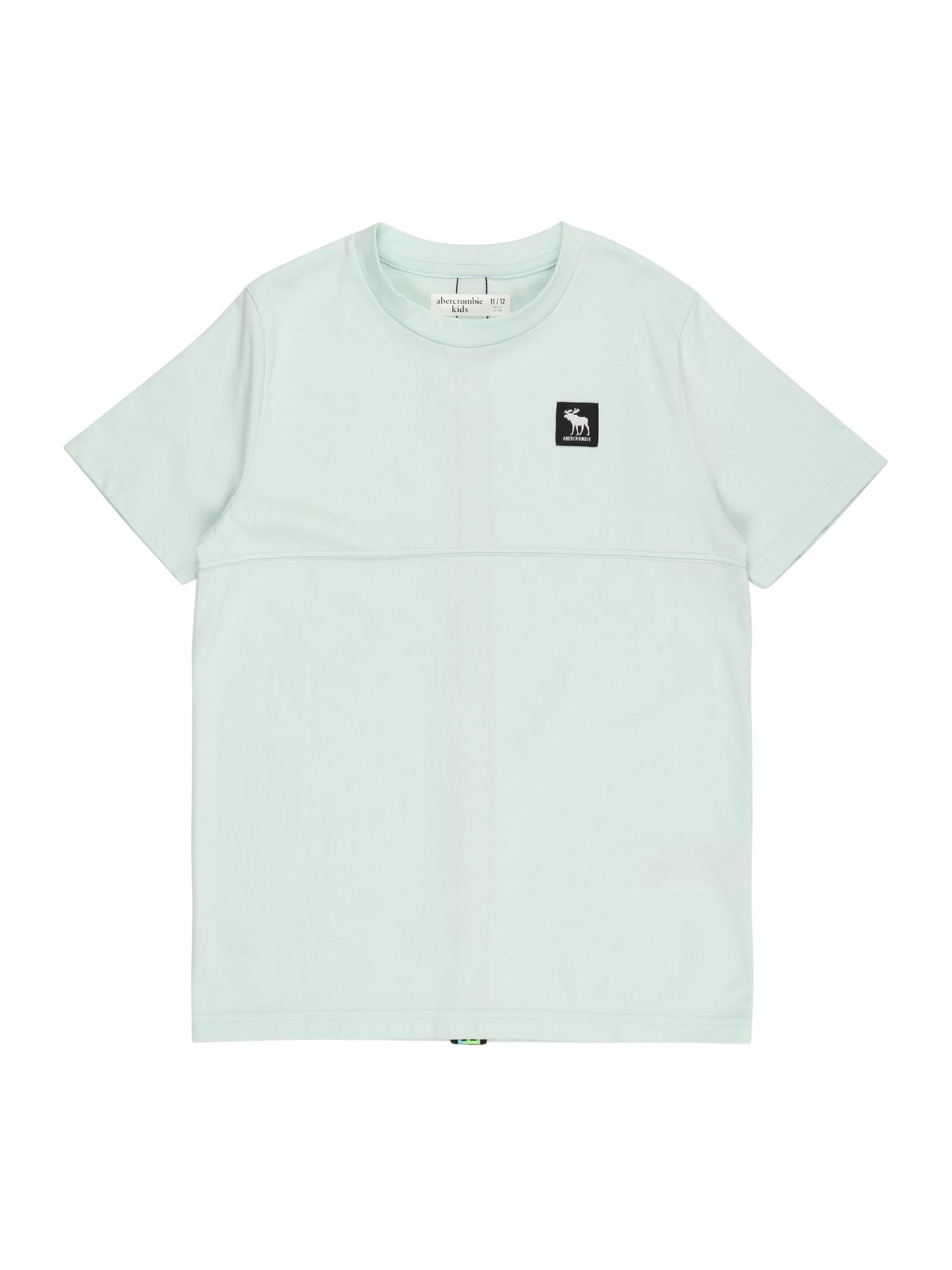 Abercrombie & Fitch Marškinėliai pastelinė žalia / juoda / žalia