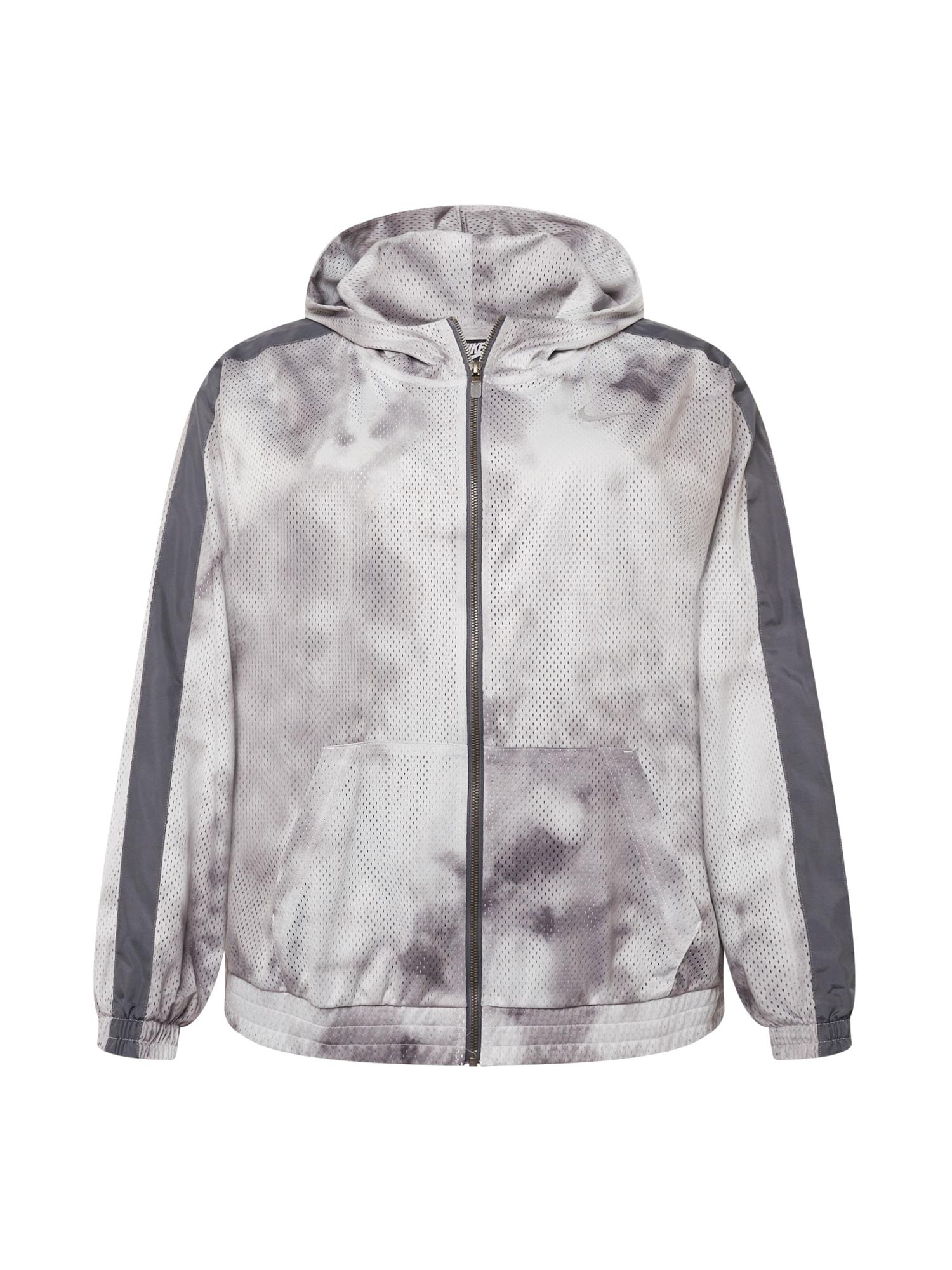 Nike Sportswear Demisezoninė striukė tamsiai pilka / šviesiai pilka