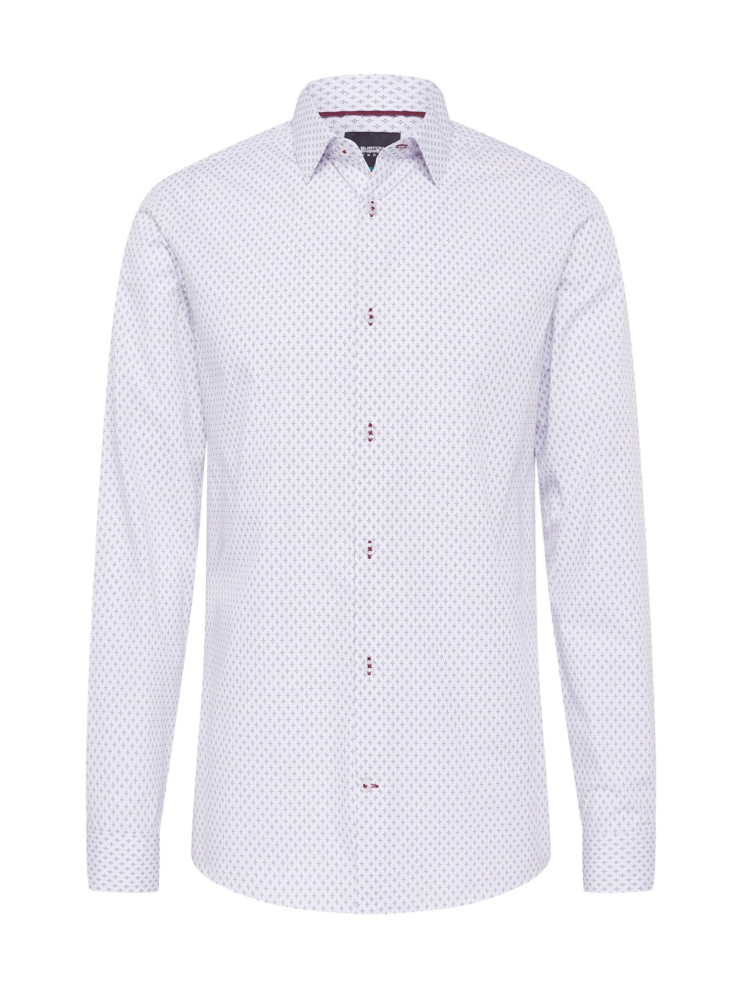 BURTON MENSWEAR LONDON (Big & Tall) Marškiniai balta / pilka