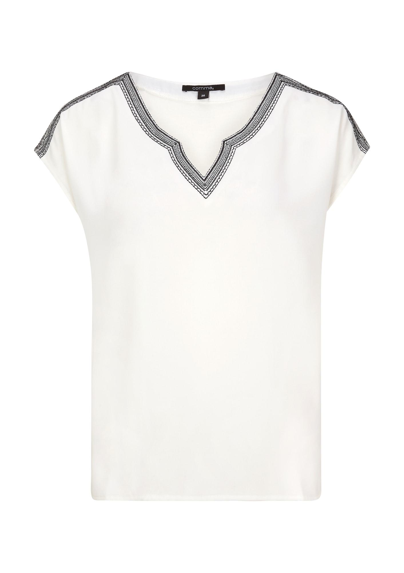 COMMA Tričko  čierna / biela