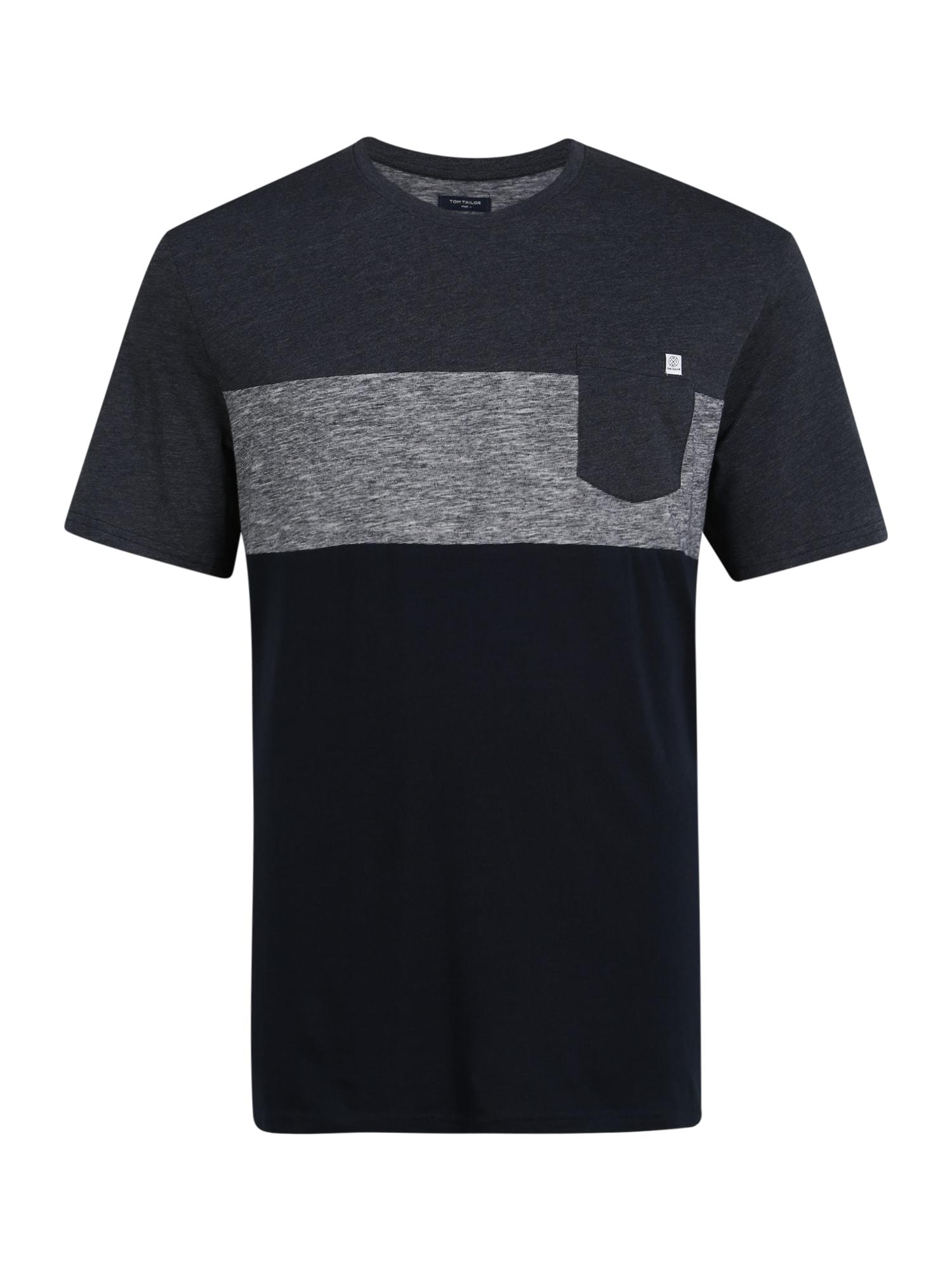 TOM TAILOR Tričko  modrá / sivá