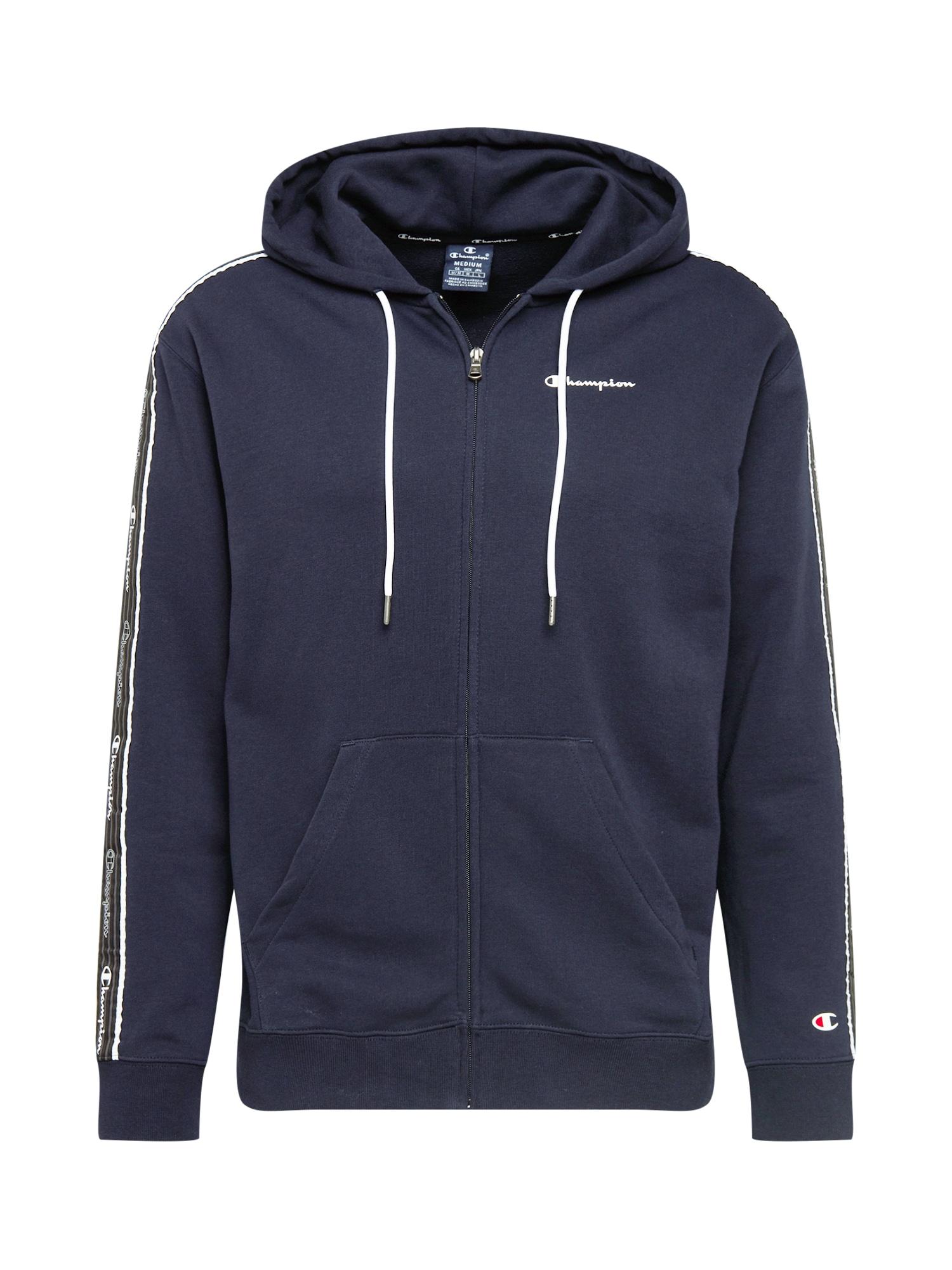 Champion Authentic Athletic Apparel Džemperis tamsiai mėlyna / balta / ugnies raudona / juoda / tamsiai pilka